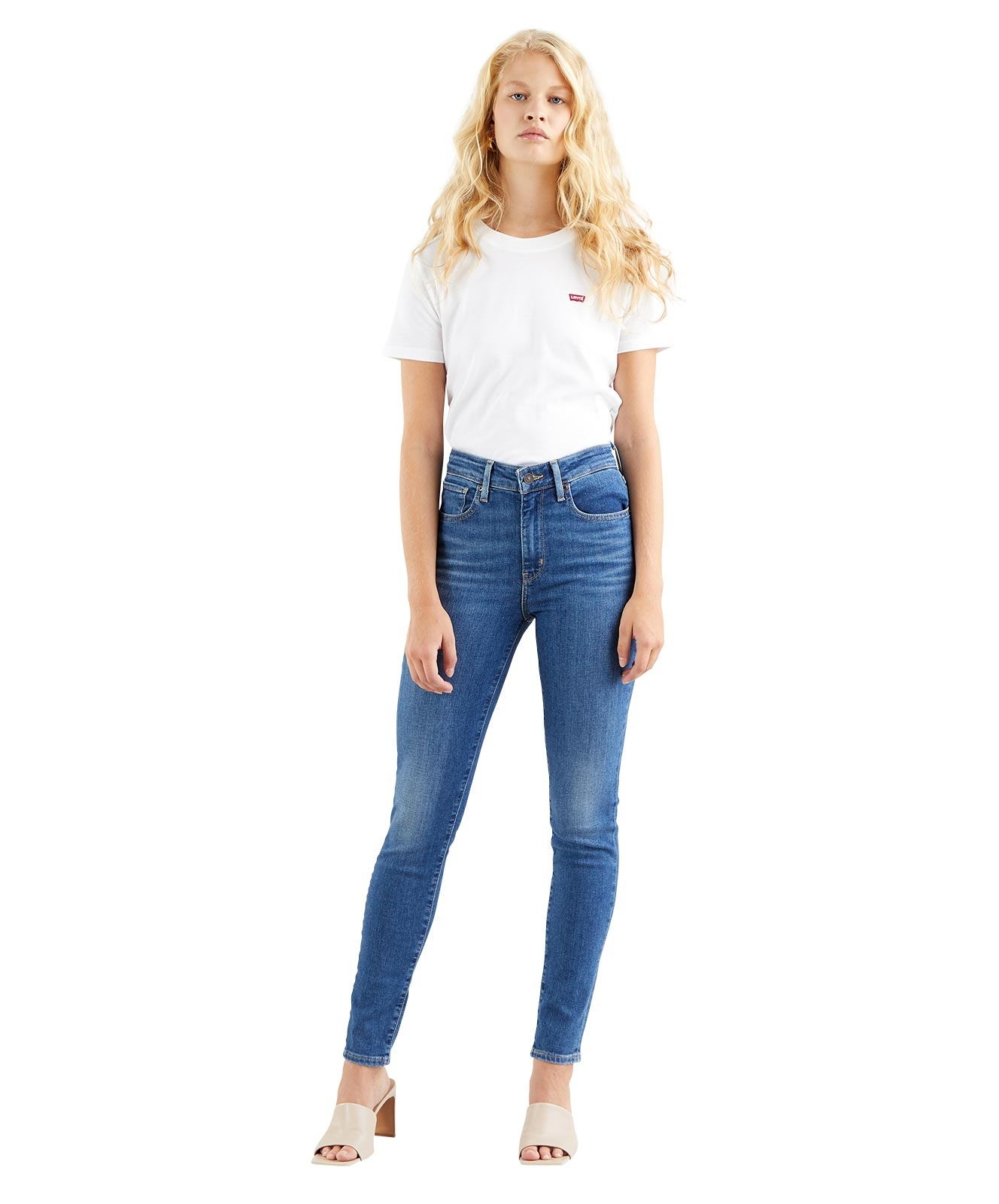 Hosen - Levis High Waisted Jeans 721 High Rise Skinny in Good Afternoon  - Onlineshop Jeans Meile