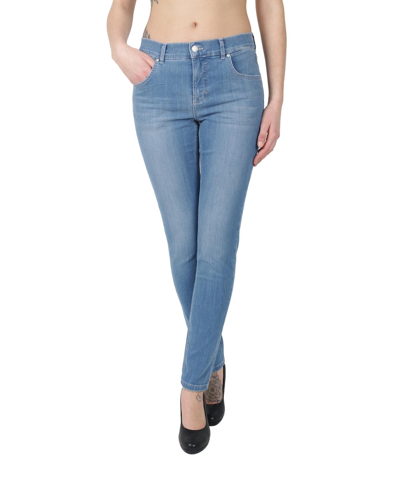 Hosen - Angels Jeans Röhre Skinny in Light Blue Used  - Onlineshop Jeans Meile
