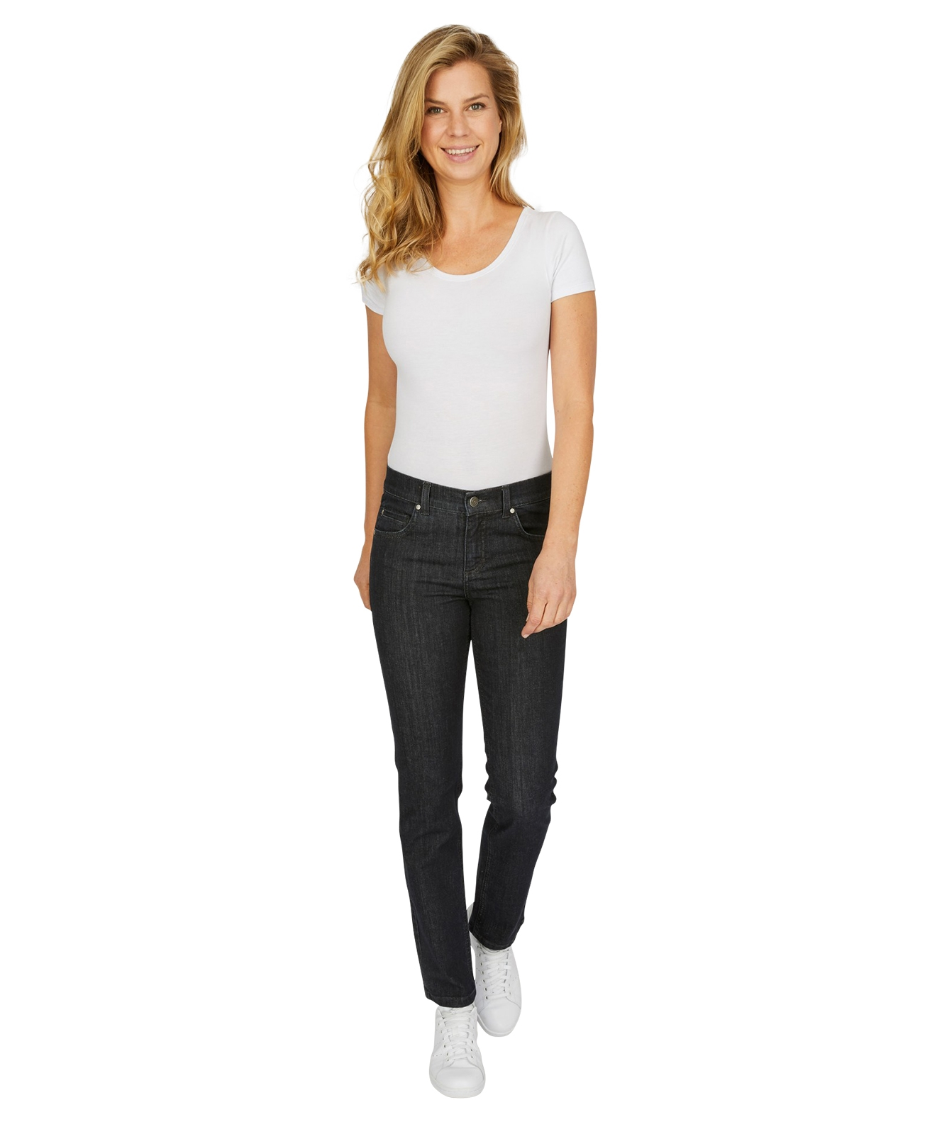 Hosen - Angels Straight Leg Jeans Cici in Rinse Night Blue  - Onlineshop Jeans Meile
