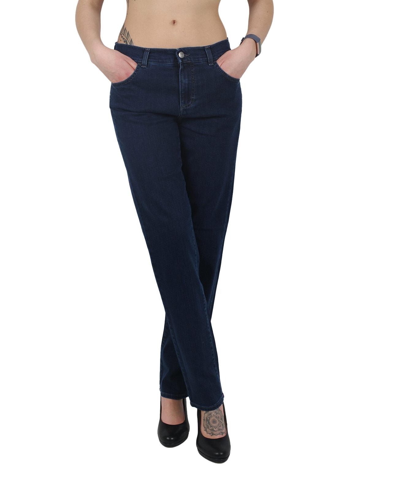 Hosen - Angels Mom Jeans Dolly in Dark Indigo  - Onlineshop Jeans Meile
