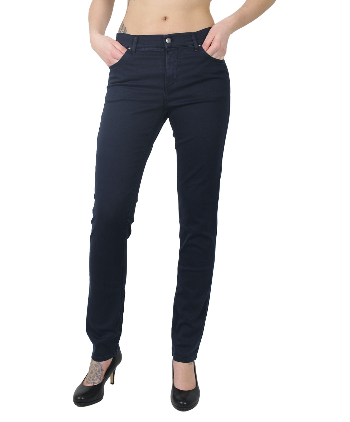 Hosen - Angels Straight Leg Jeans Dolly in Midnight Blue  - Onlineshop Jeans Meile