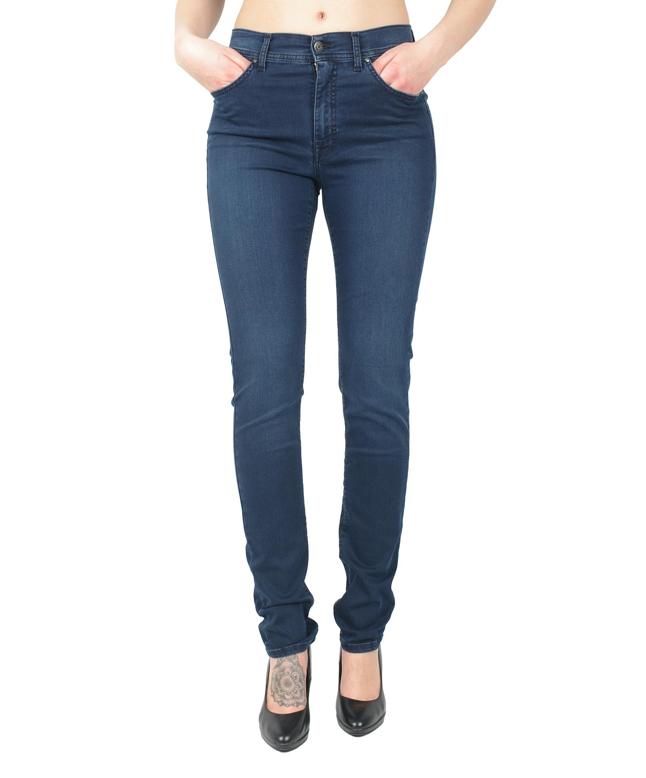 Hosen - Angels Straight Leg Jeans Cici in Blue Blue Used  - Onlineshop Jeans Meile