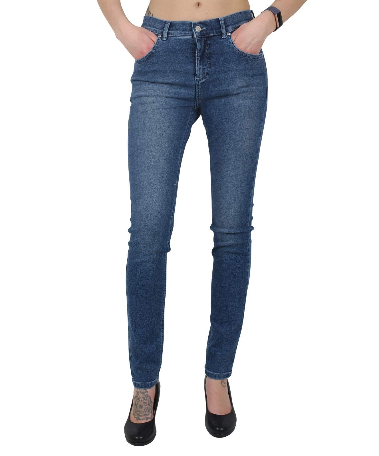 Hosen - Angels Jeans Röhre Skinny in Mid Blue Used  - Onlineshop Jeans Meile