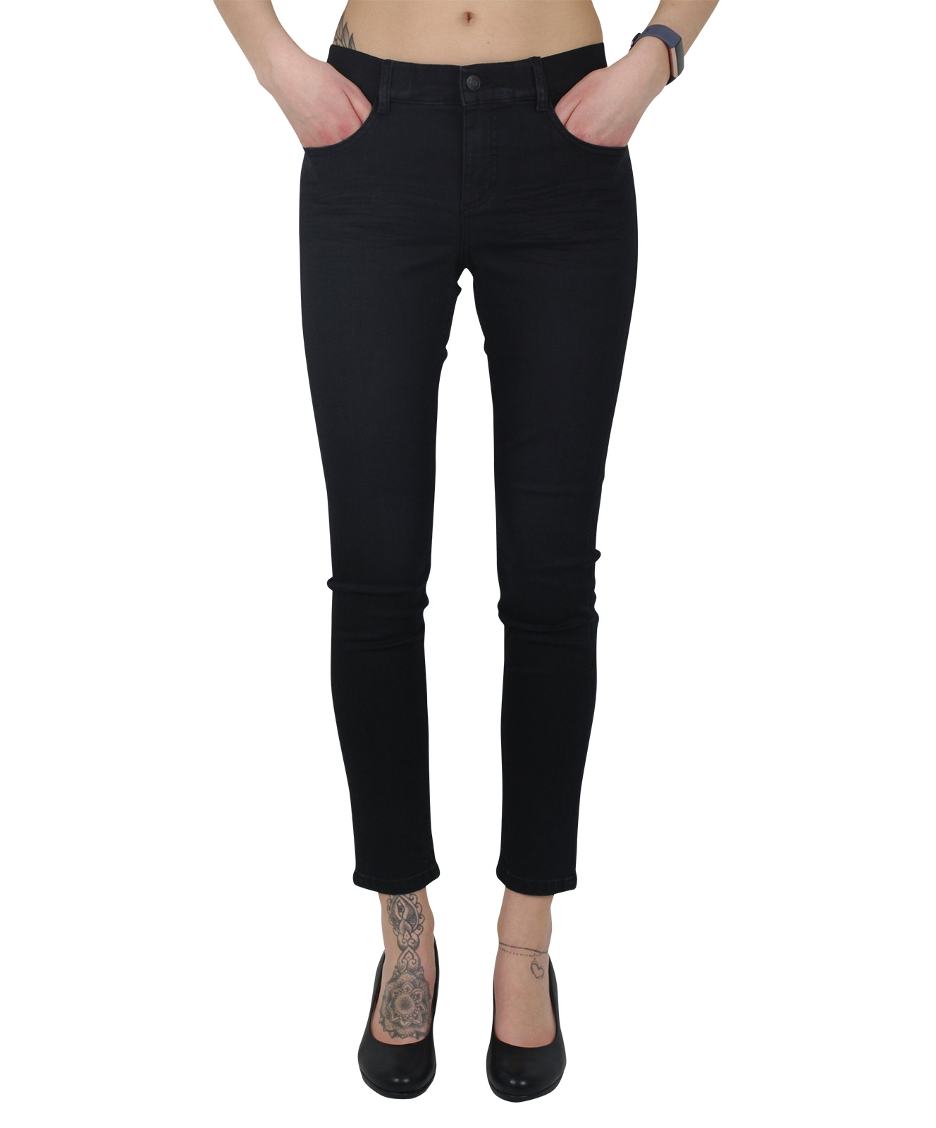 Hosen - Angels Jeggings One Size Fits All in Anthracite Used Buffi Crinkle  - Onlineshop Jeans Meile