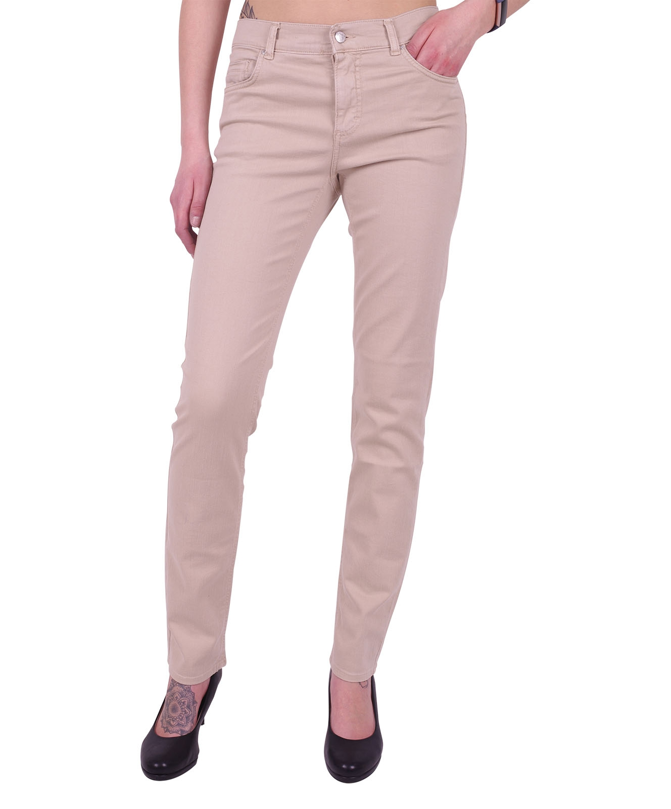 Hosen - Angels Straight Leg Jeans Cici in Latte  - Onlineshop Jeans Meile