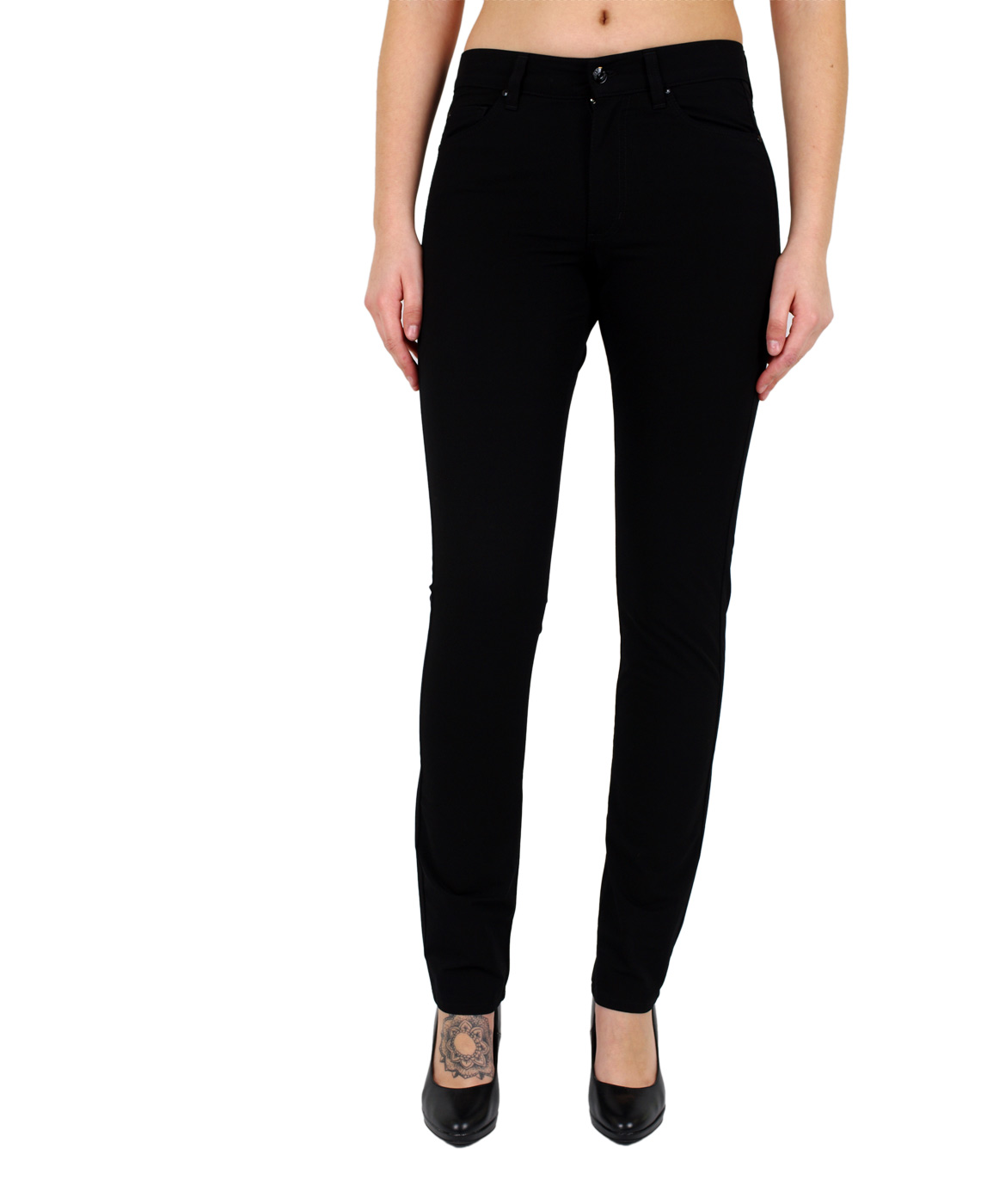 Hosen - Angels Straight Leg Jeans Cici in Jet Black  - Onlineshop Jeans Meile
