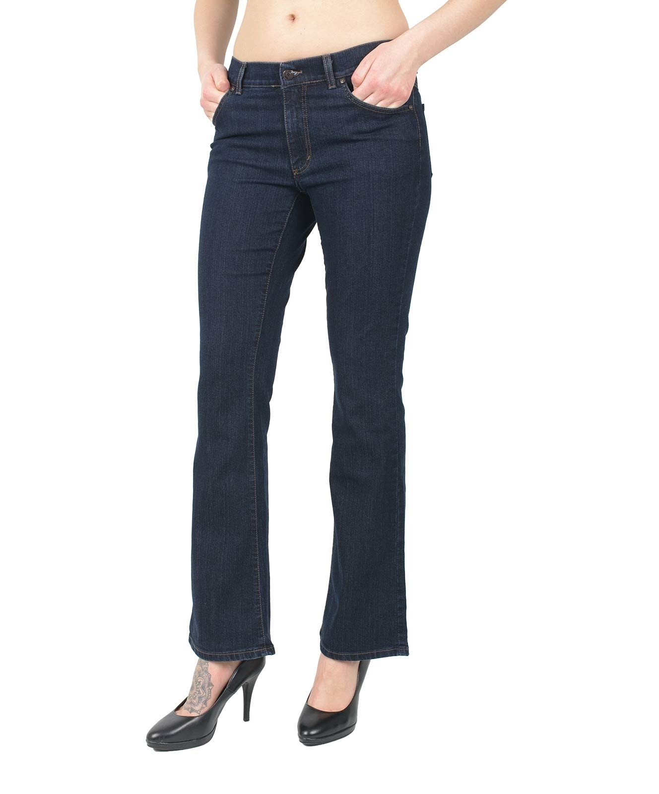 Hosen - Angels Bootcut Jeans Luci in Dark Washed  - Onlineshop Jeans Meile