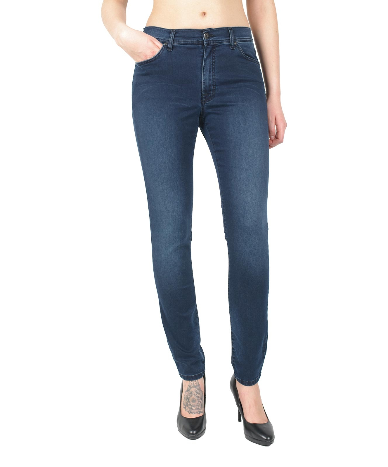 Hosen - Angels Jeans Röhre Skinny in Blue Blue Used  - Onlineshop Jeans Meile