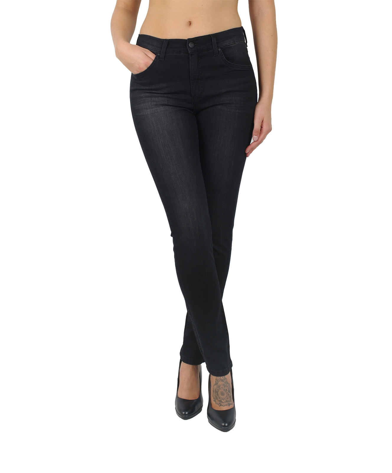 Hosen - Angels Skinny Jeans Skinny in Black Used Buffi  - Onlineshop Jeans Meile