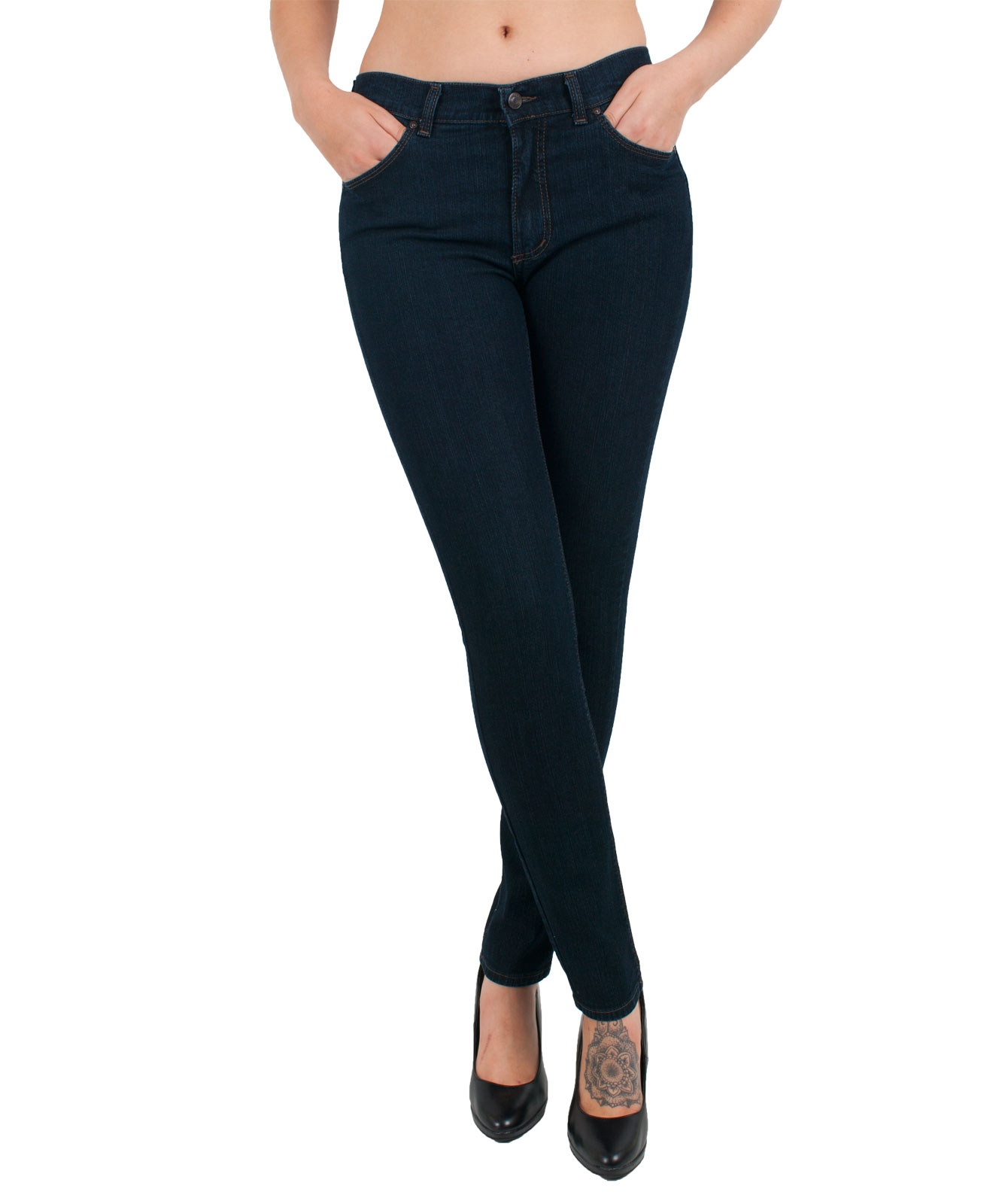 Hosen - Angels Jeans Röhre Skinny in Dark Washed  - Onlineshop Jeans Meile