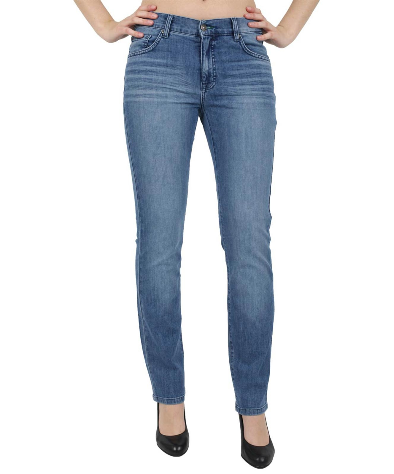 Hosen - Angels Straight Leg Jeans Cici in S.Stone Used Buffi  - Onlineshop Jeans Meile