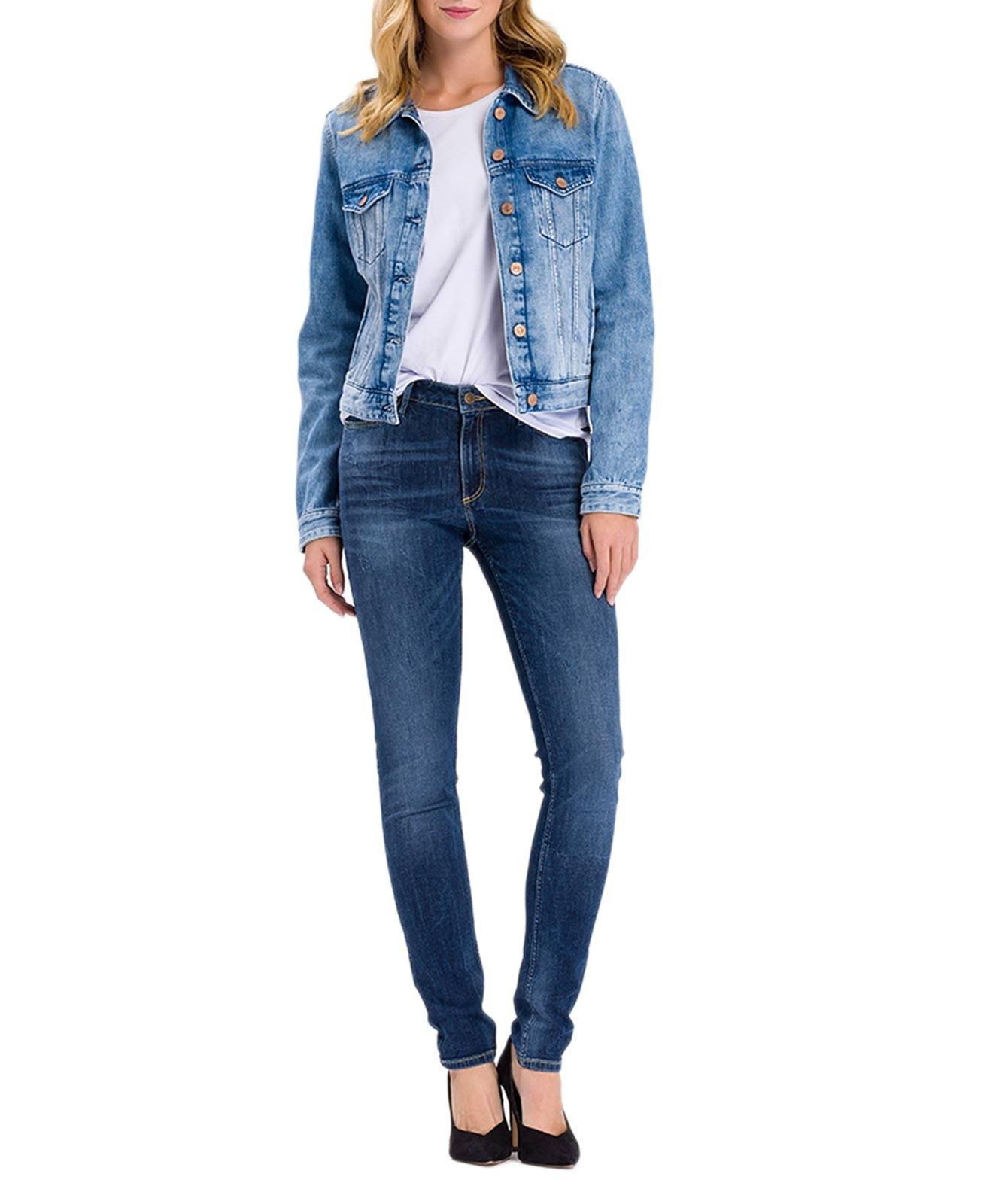 Hosen - Cross Skinny Jeans Alan in Blue Used  - Onlineshop Jeans Meile