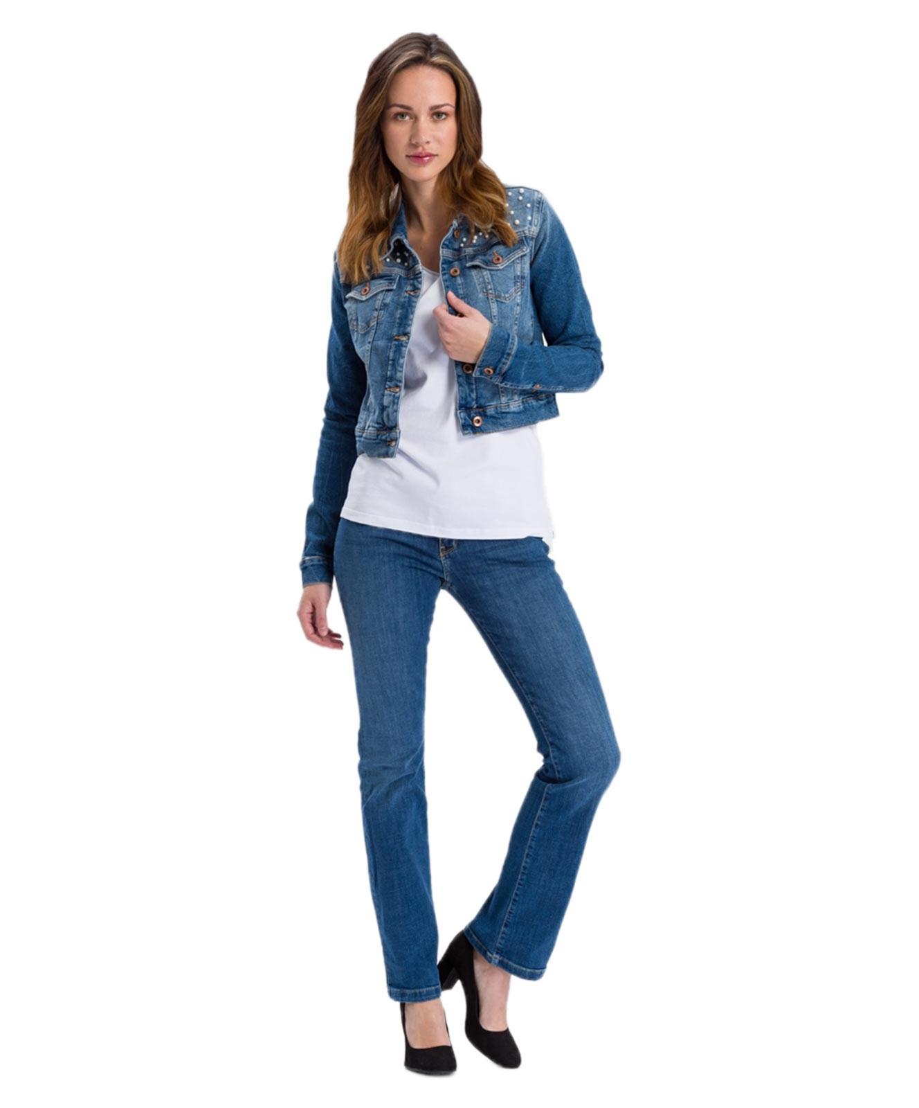 Hosen - Cross Bootcut Jeans Lauren in Med Blue  - Onlineshop Jeans Meile