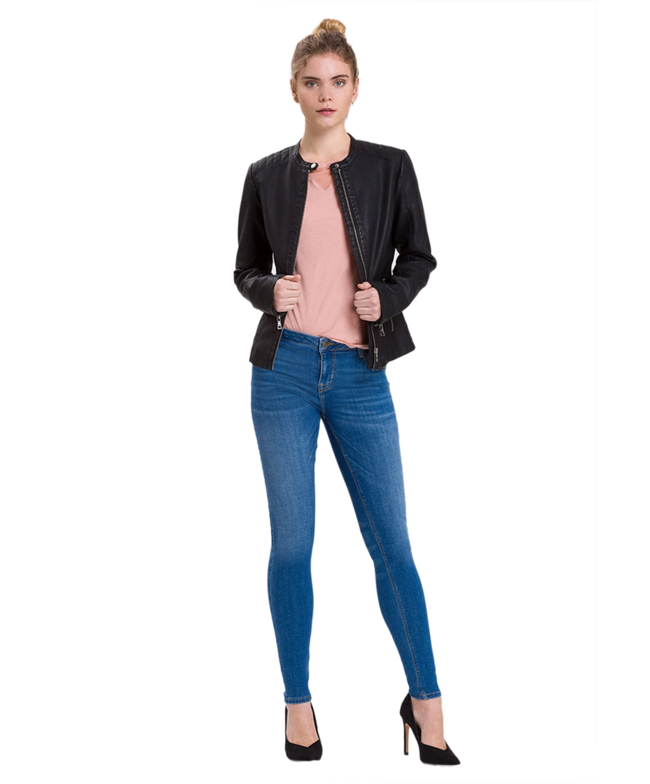 Hosen - Cross High Waisted Jeans Page in Mid Blue  - Onlineshop Jeans Meile