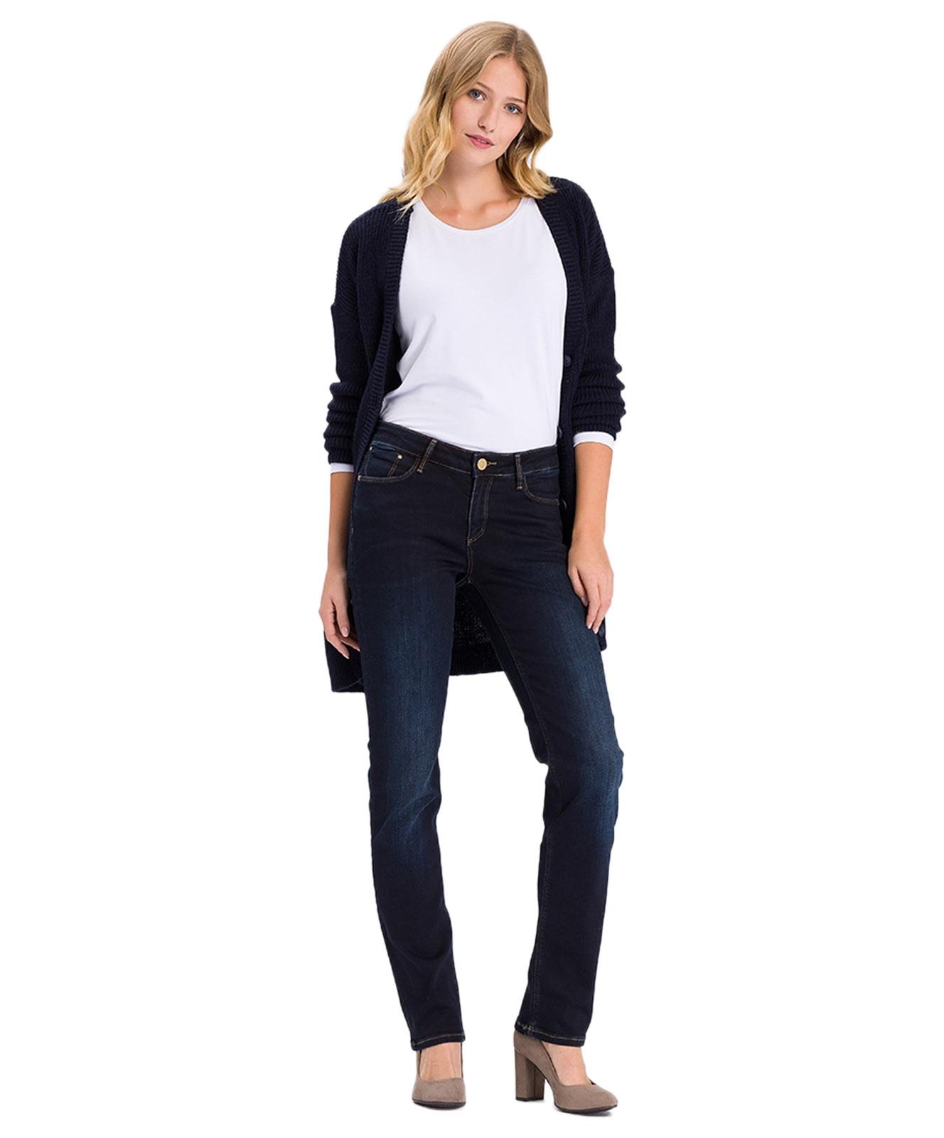 Hosen - Cross Straight Leg Jeans Rose in Blue Black Used  - Onlineshop Jeans Meile