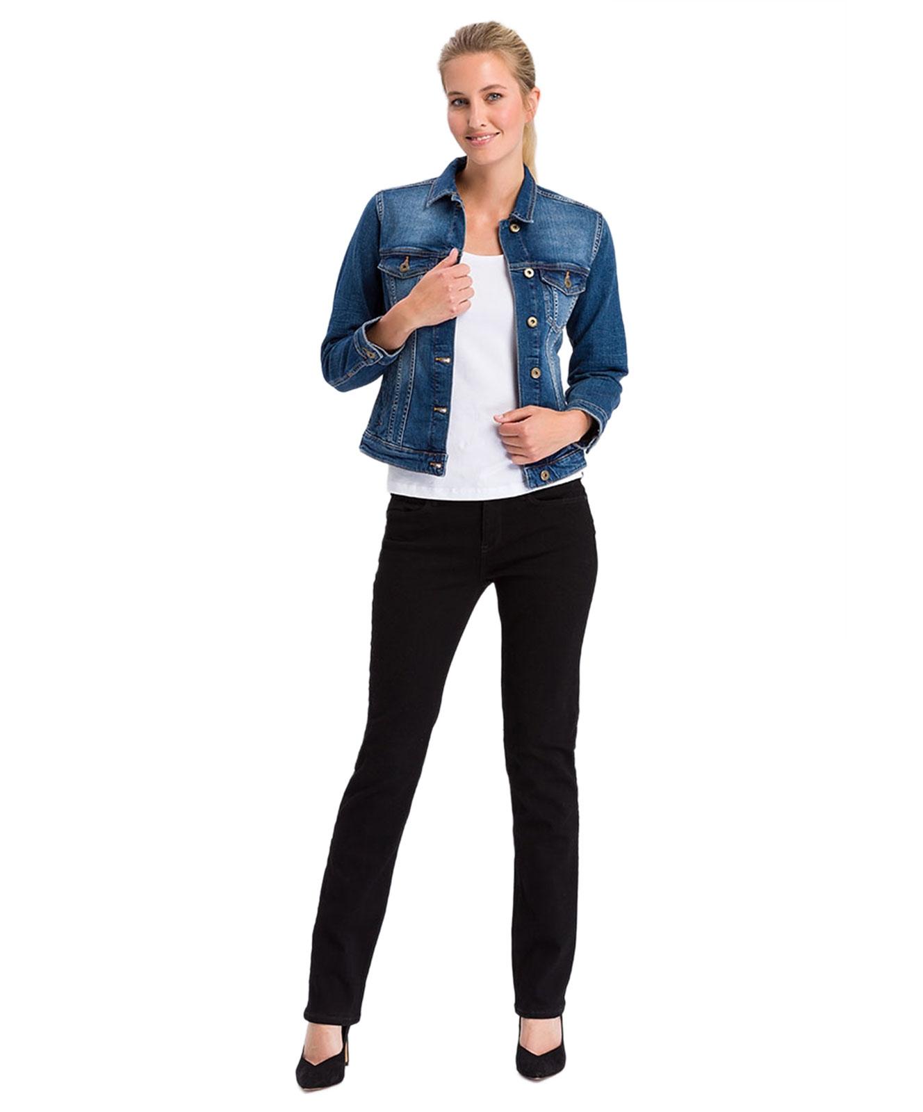 Hosen - Cross Straight Leg Jeans Rose in Black  - Onlineshop Jeans Meile