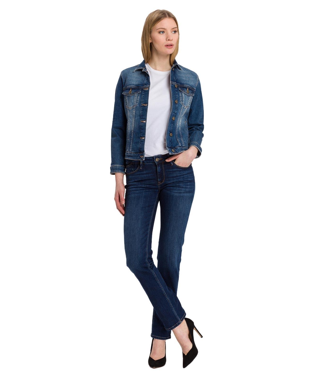 Hosen - Cross Straight Leg Jeans Rose in Dark Blue Used  - Onlineshop Jeans Meile