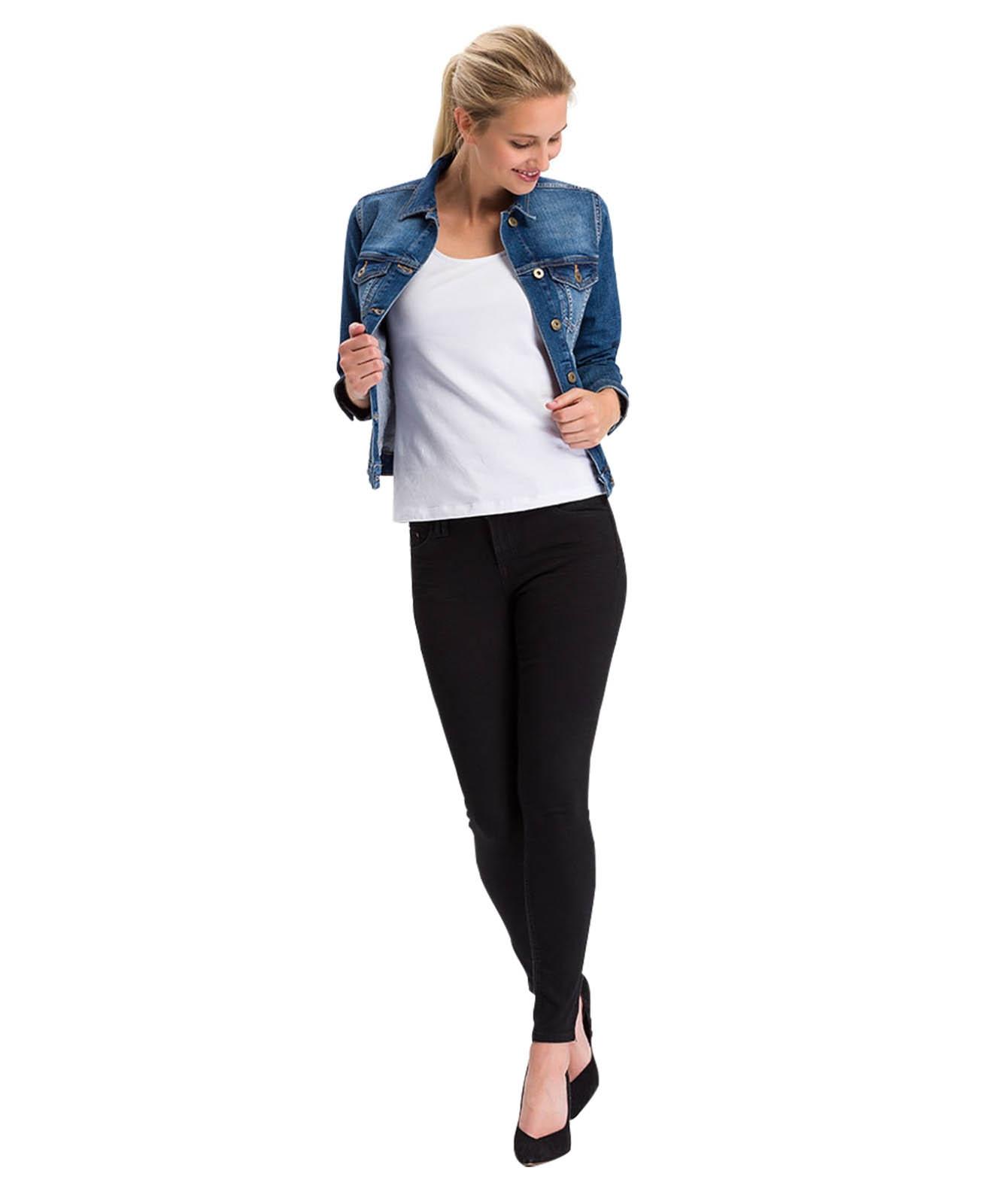 Hosen - Cross 7 8 Jeans Giselle in Black  - Onlineshop Jeans Meile