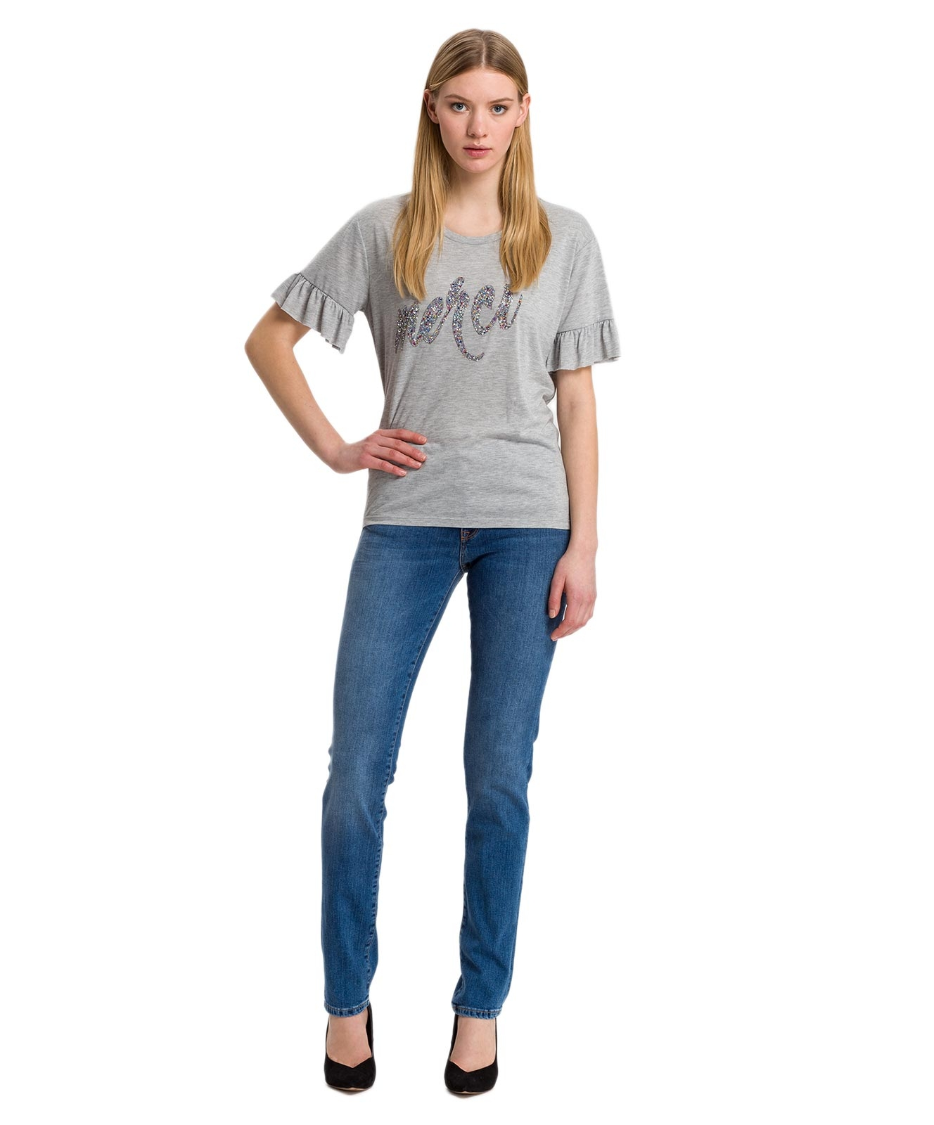 Hosen - Cross Mom Jeans Anya in Soft Blue Used  - Onlineshop Jeans Meile
