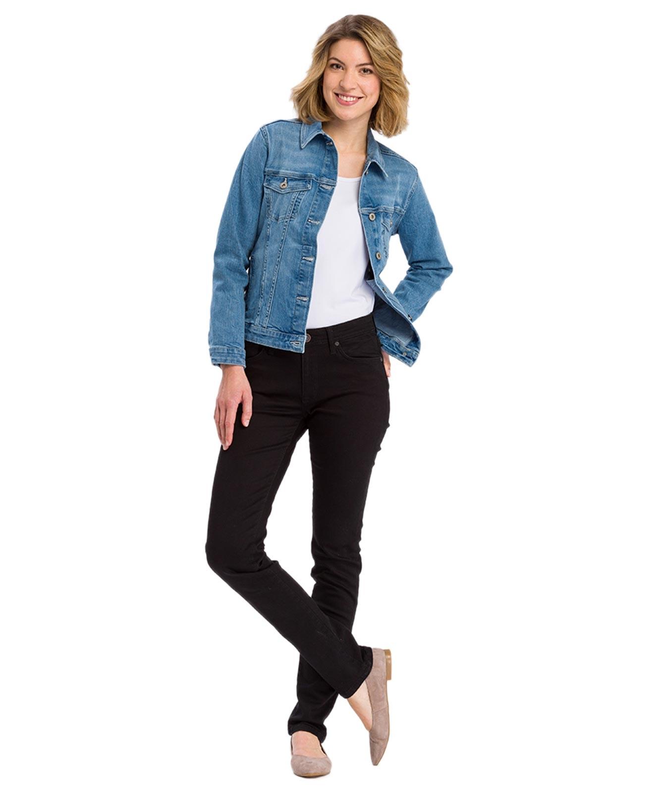 Hosen - Cross Mom Jeans Anya in Black  - Onlineshop Jeans Meile