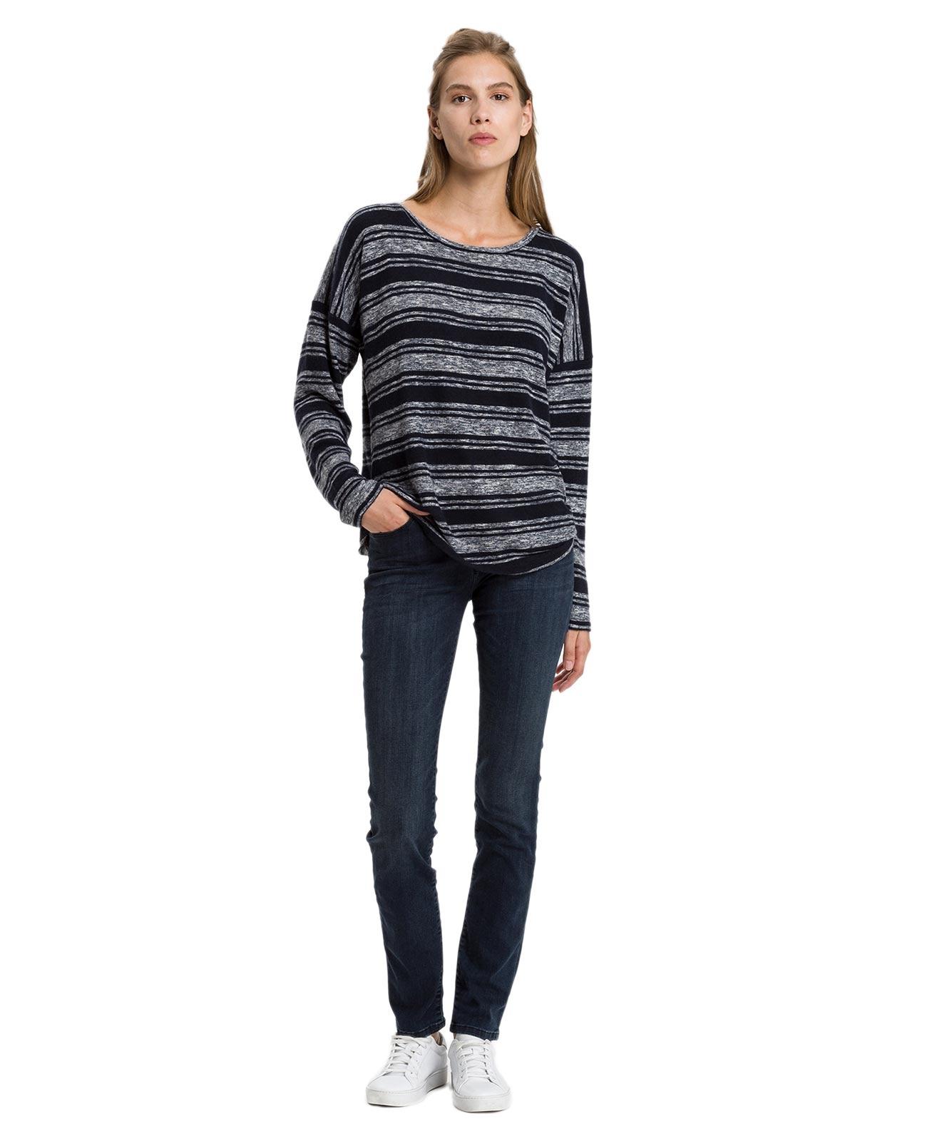 Hosen - Cross Mom Jeans Anya in Blue Black  - Onlineshop Jeans Meile
