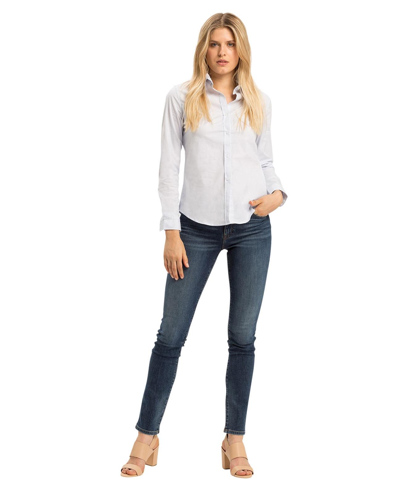 Hosen - Cross Mom Jeans Anya in Dark Blue  - Onlineshop Jeans Meile