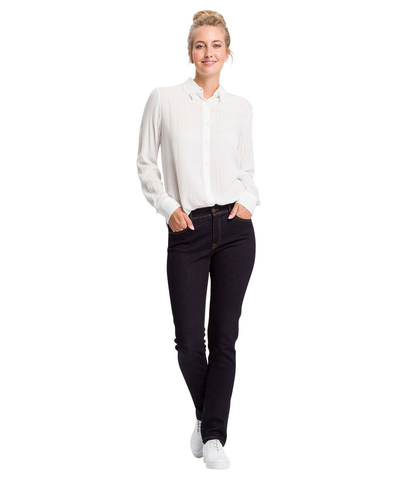 Hosen - Cross Mom Jeans Anya in Rinsed  - Onlineshop Jeans Meile