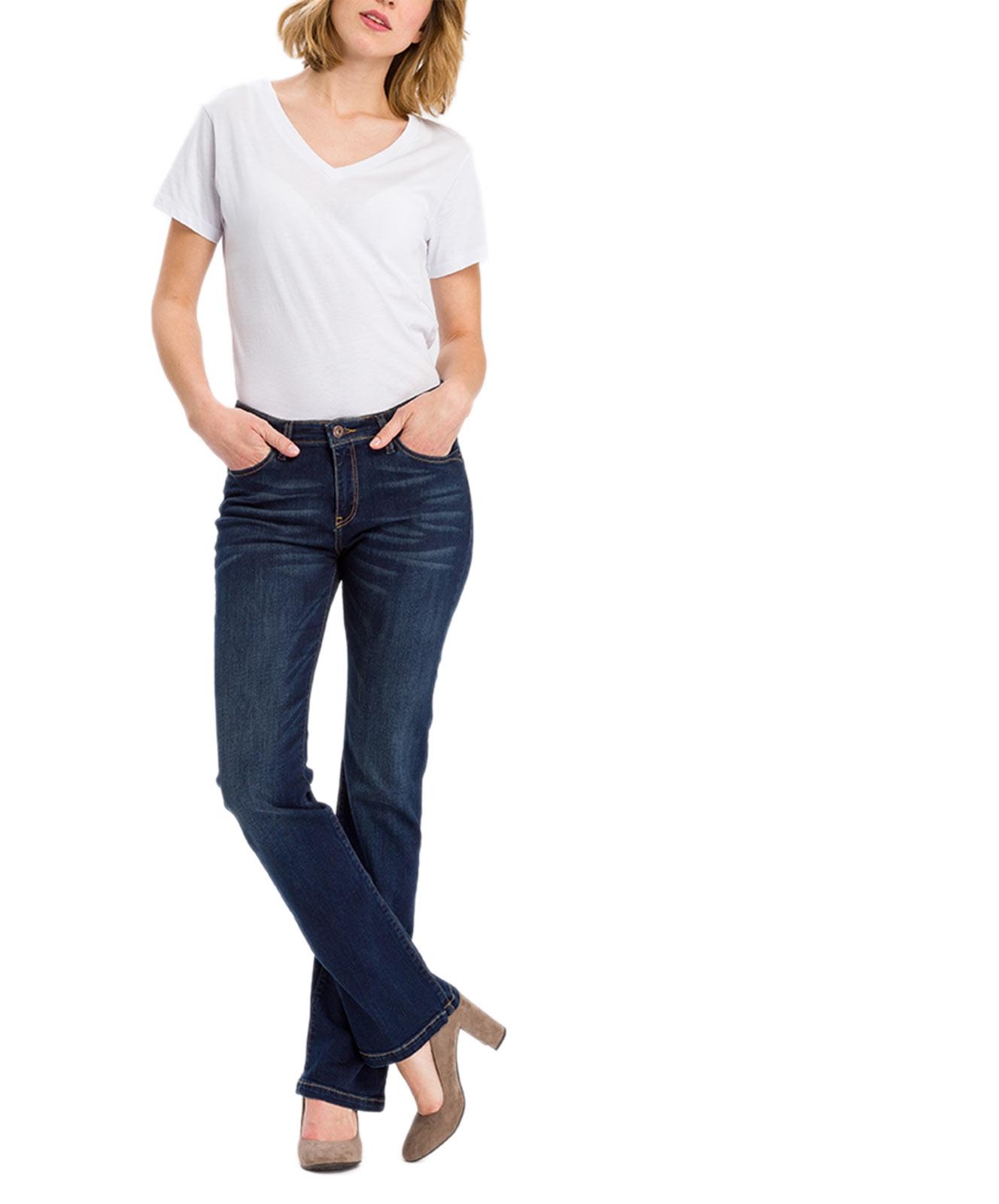 Hosen - Cross Bootcut Jeans Lauren in Deep Blue  - Onlineshop Jeans Meile