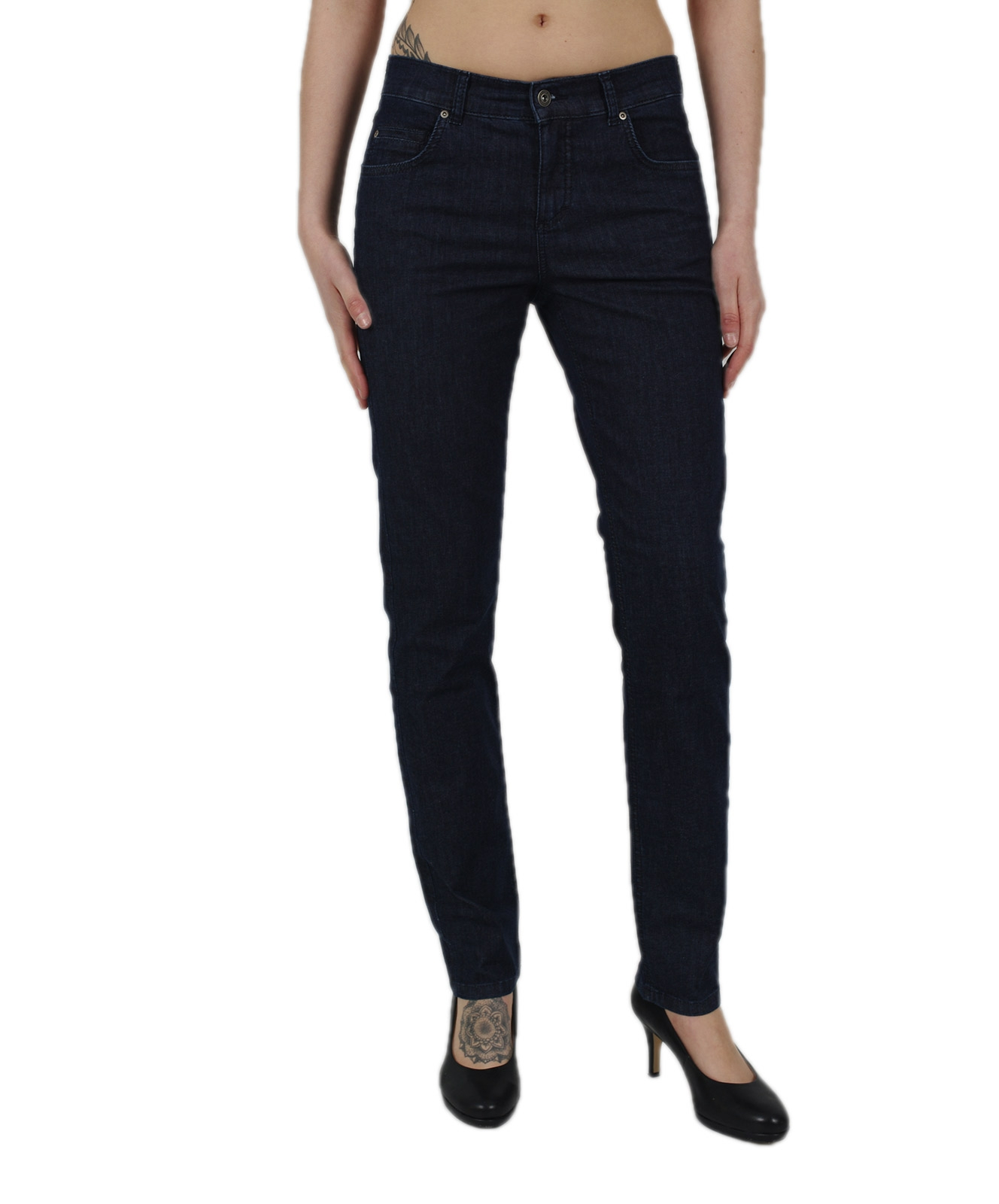 Hosen - Angels Straight Leg Jeans Cici in Stone  - Onlineshop Jeans Meile