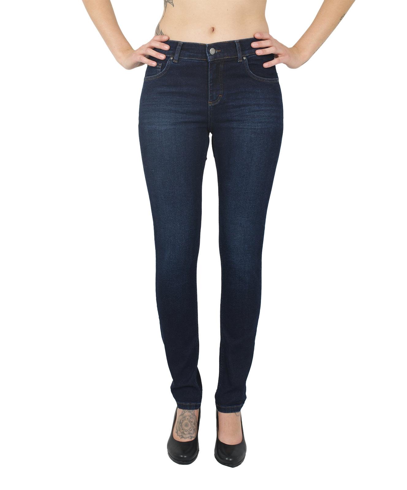 Hosen - Angels Jeans Röhre Skinny in Dark Indigo Used Buffi  - Onlineshop Jeans Meile