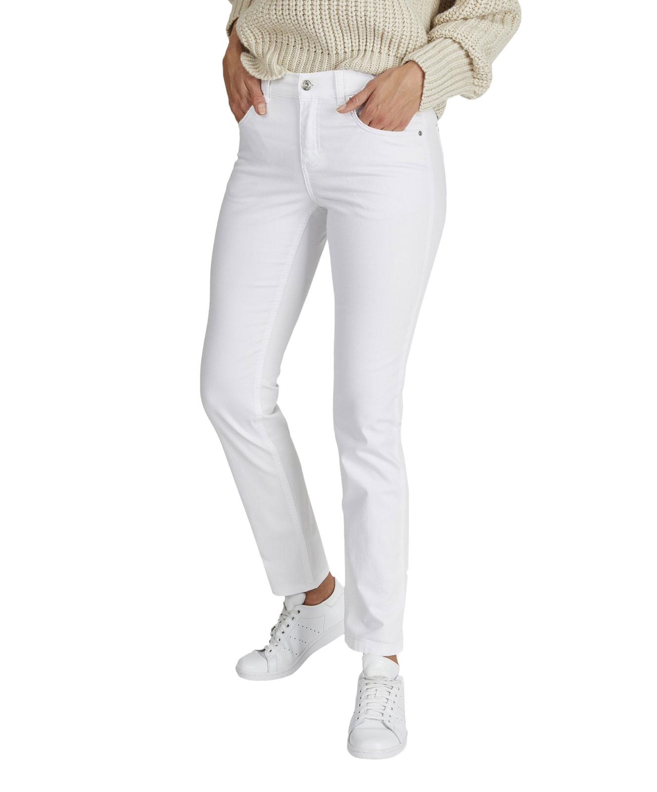 Hosen - Angels Straight Leg Jeans Cici in White  - Onlineshop Jeans Meile