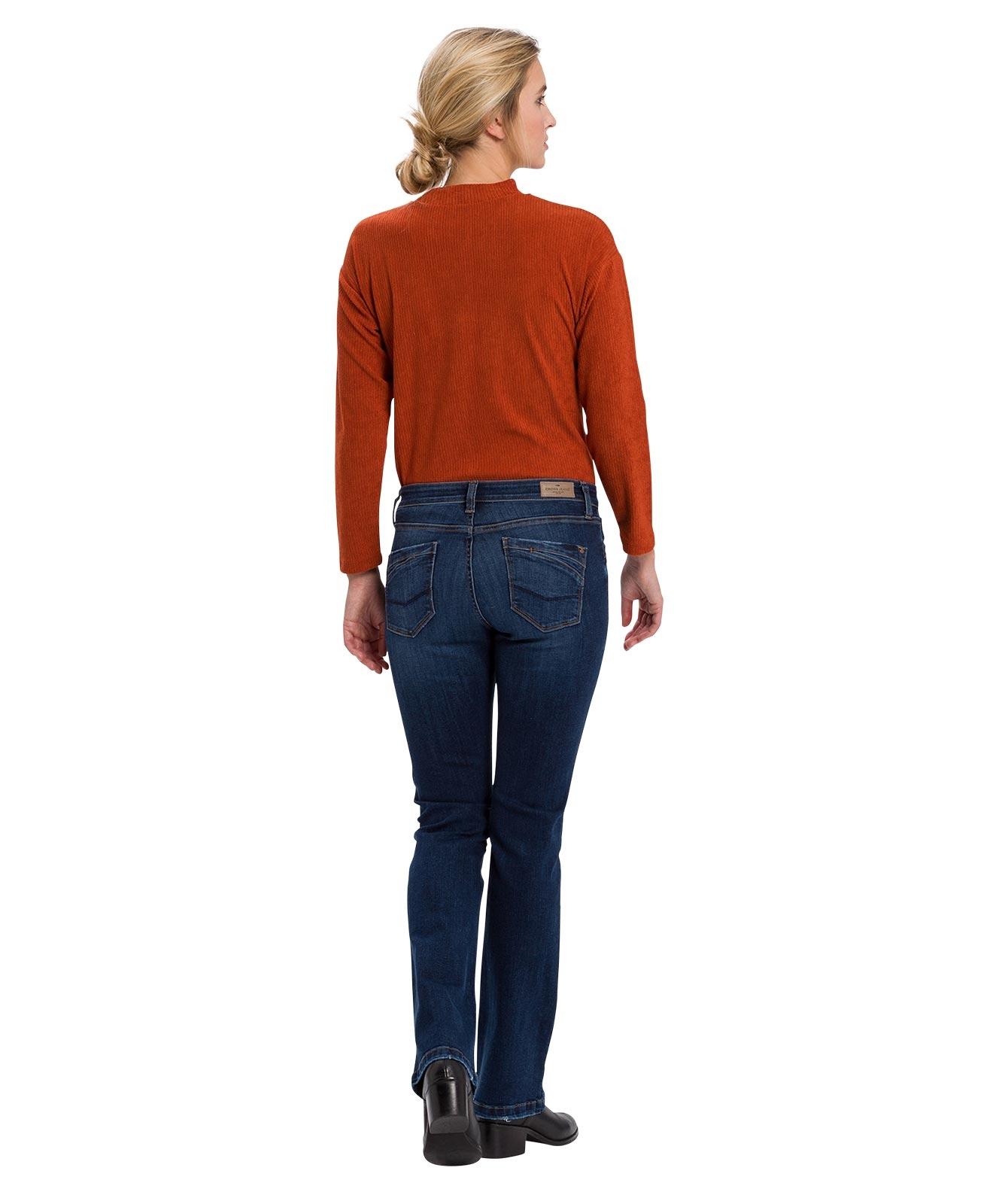 Hosen - Cross Bootcut Jeans Lauren in Deep Blue Used  - Onlineshop Jeans Meile