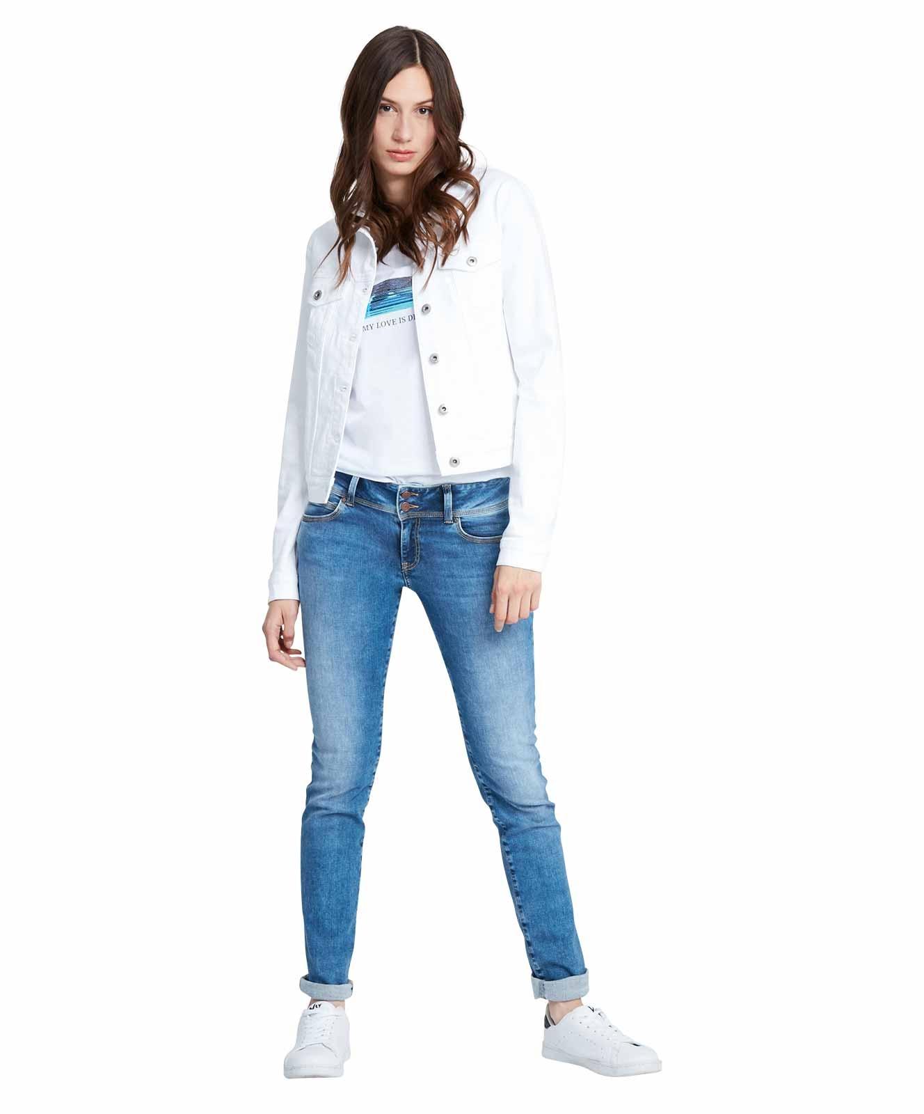 Hosen - Cross Straight Leg Jeans Loie in Medium Blue  - Onlineshop Jeans Meile