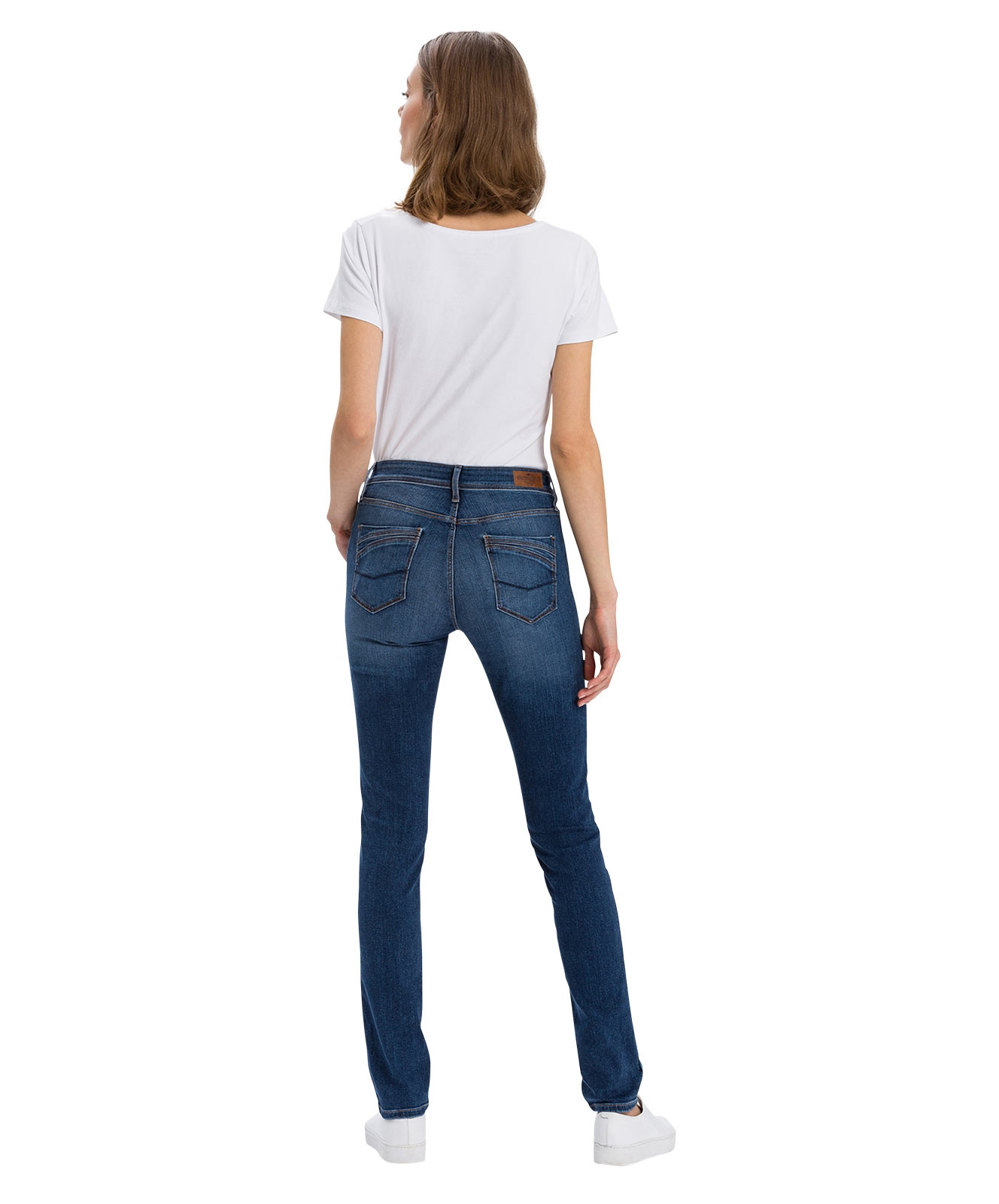 Hosen - Cross Mom Jeans Anya in Dark Mid Used  - Onlineshop Jeans Meile