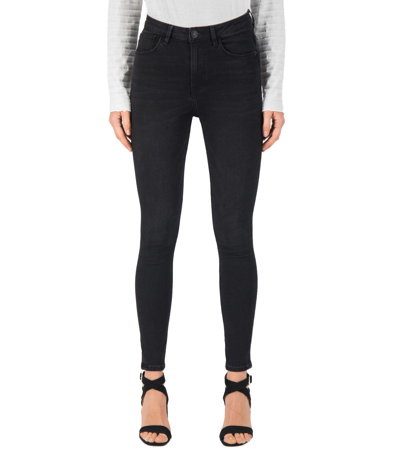 Hosen - Garcia Skinny Jeans Enrica Skinny in Dark Used Black  - Onlineshop Jeans Meile