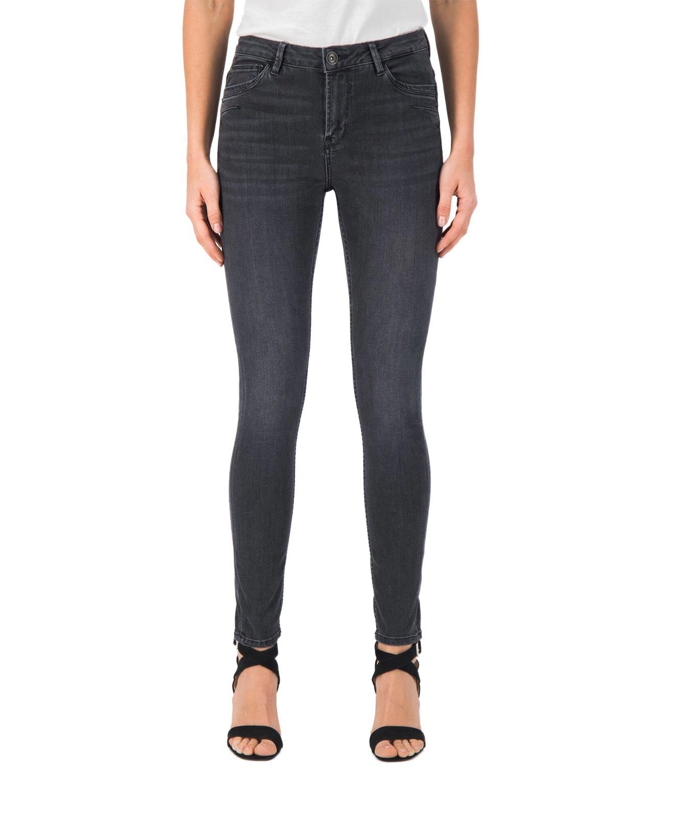 Hosen - Garcia Slim Fit Jeans Celia in Medium Used Grey  - Onlineshop Jeans Meile