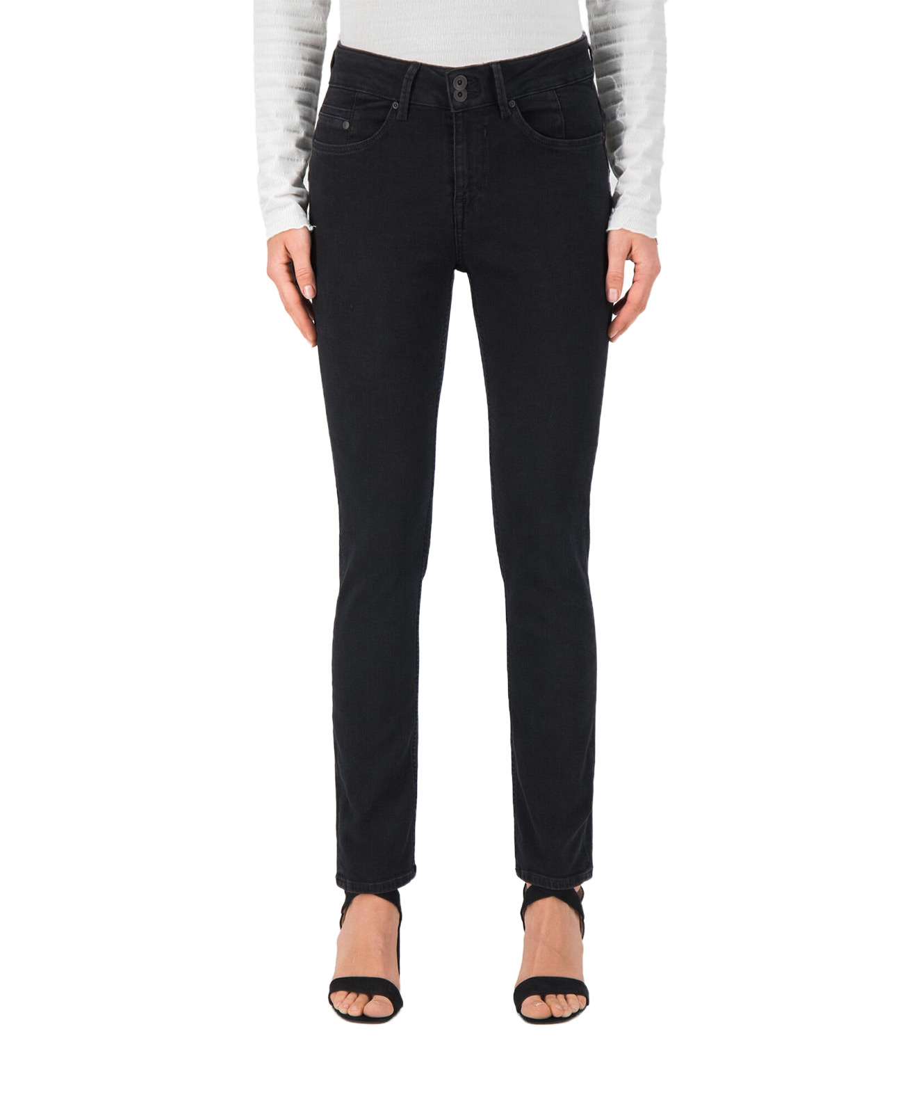 Hosen - Garcia Mom Jeans Caro 285 in Dark Used Black  - Onlineshop Jeans Meile