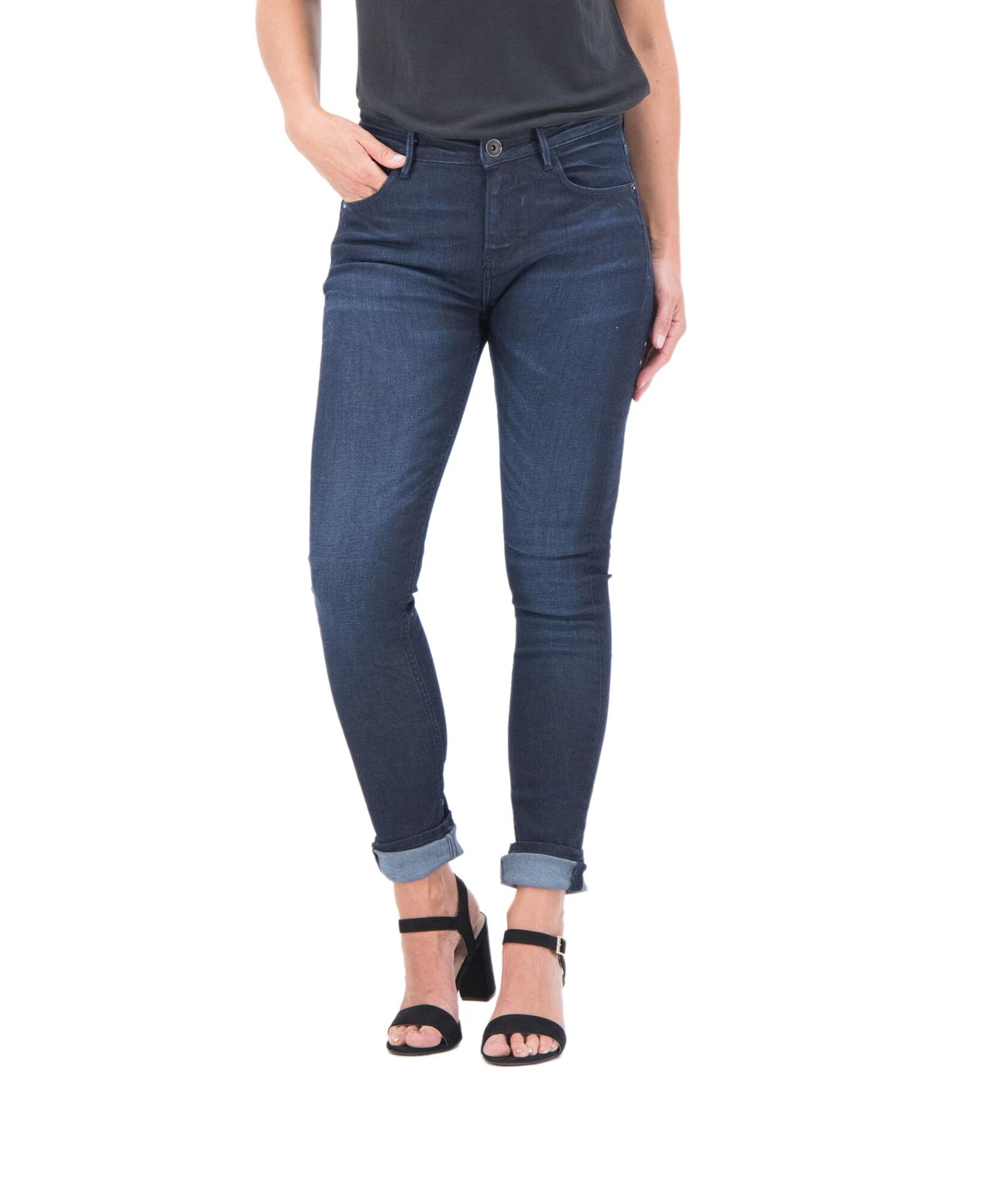 Hosen - Garcia Super Slim Fit Jeans Celia in Dark Denim  - Onlineshop Jeans Meile