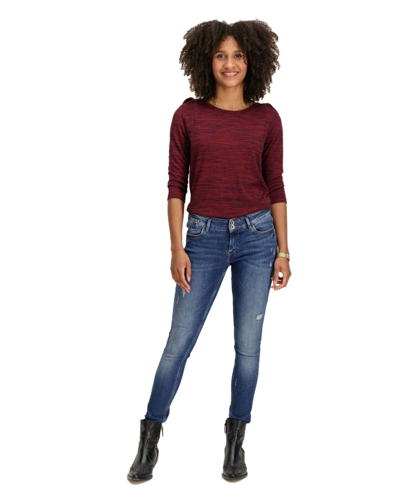 Hosen - Garcia Slim Fit Jeans Rachelle in Medium Used  - Onlineshop Jeans Meile