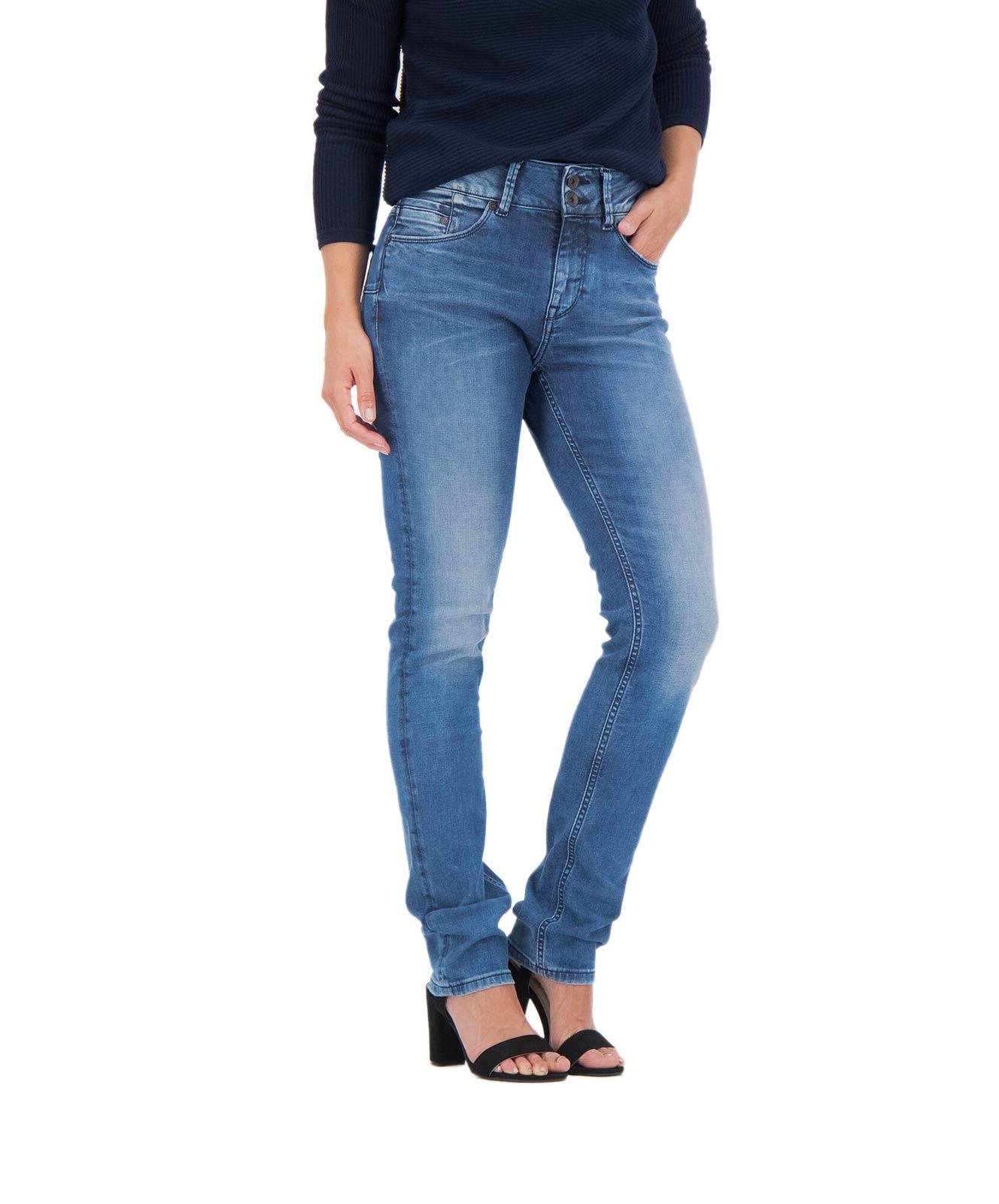 Hosen - Garcia Mom Jeans Caro Curved in Dark Used  - Onlineshop Jeans Meile