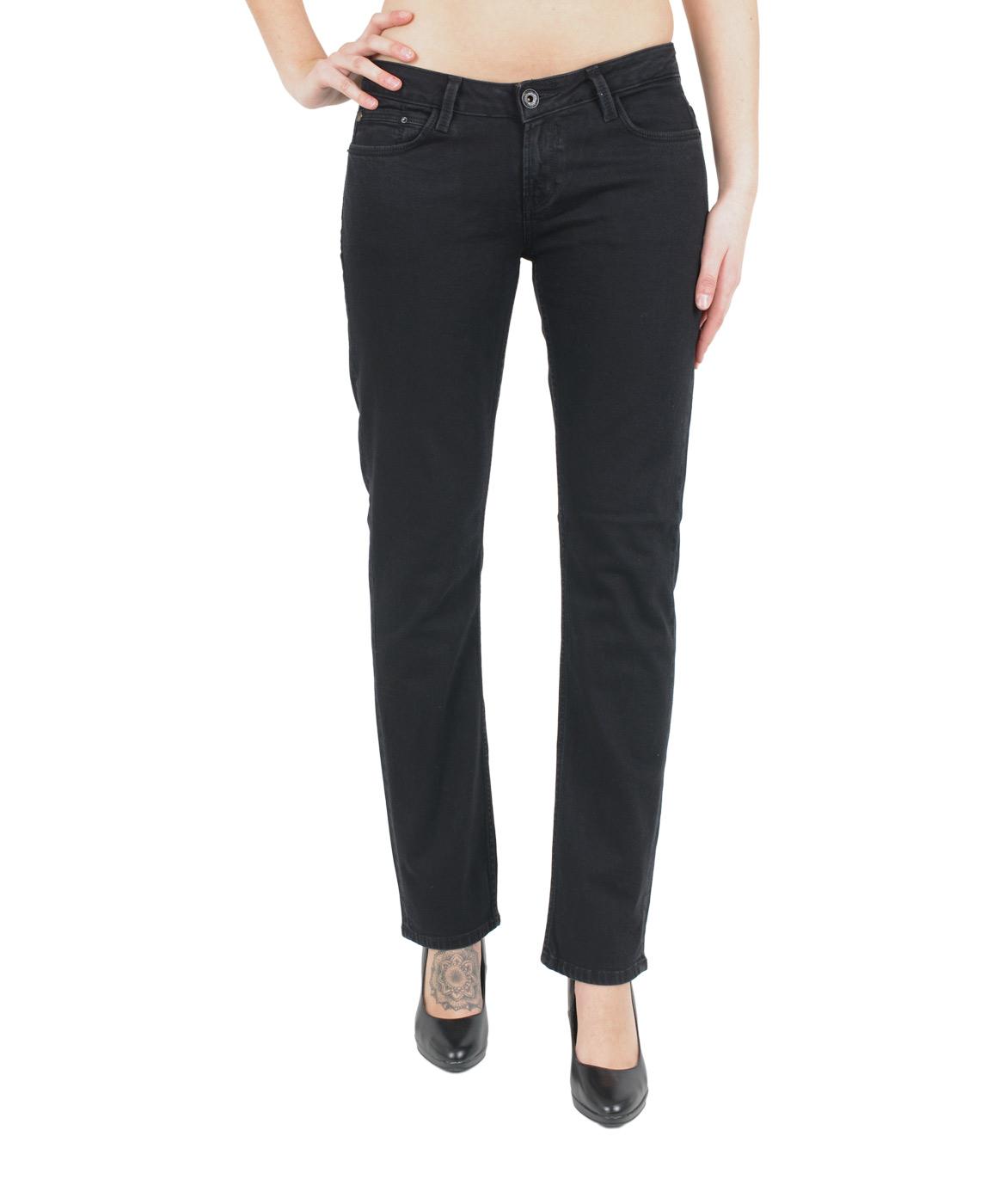 Hosen - Garcia Straight Leg Jeans Riva in Black Stone  - Onlineshop Jeans Meile