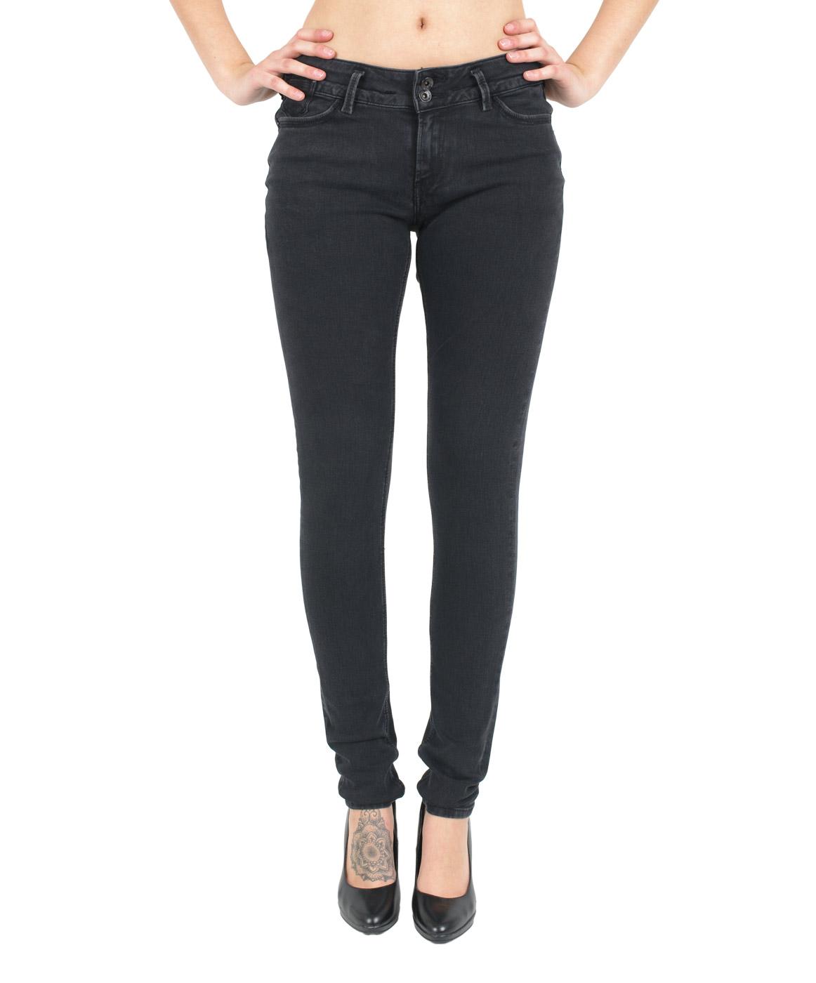 Hosen - Garcia Jeans Röhre Rachelle in Black Worn  - Onlineshop Jeans Meile