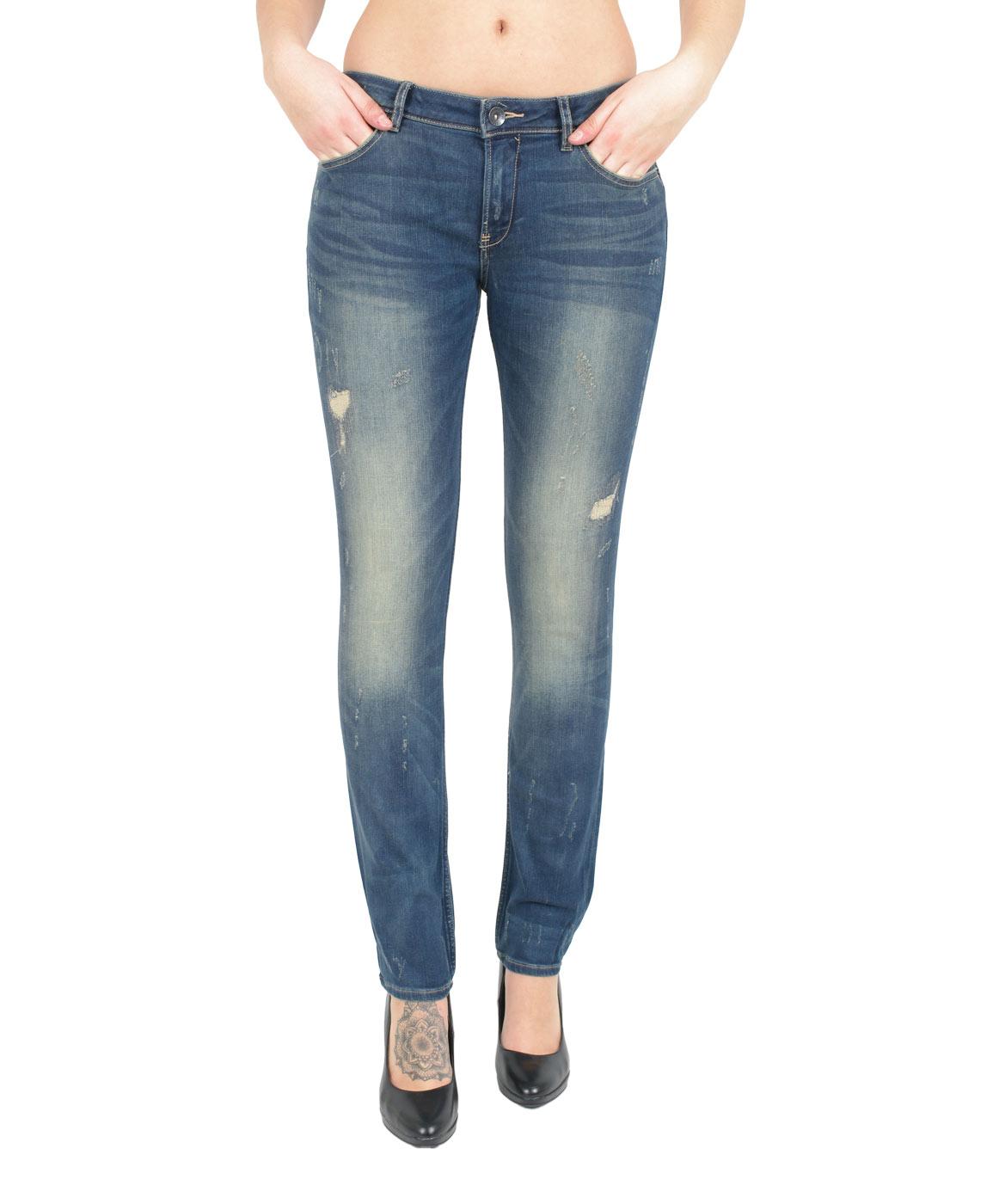 Hosen - Garcia Jeans Röhre Rachelle in Navy Vintage  - Onlineshop Jeans Meile
