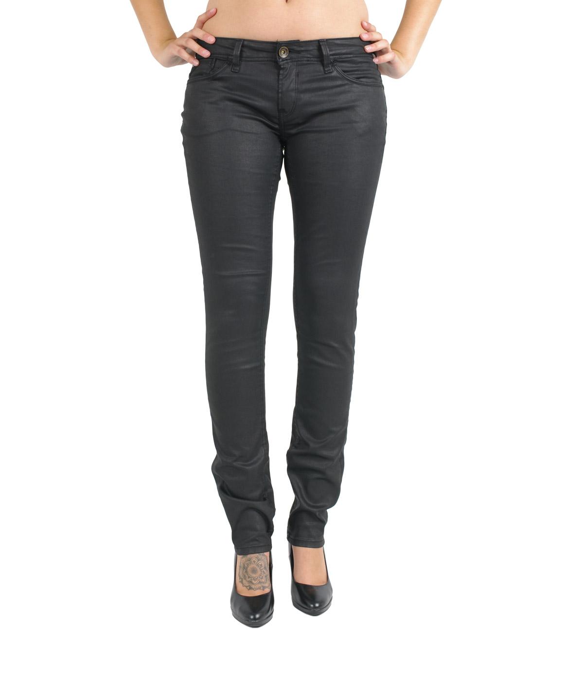 Hosen - Garcia Slim Fit Jeans Riva in Black Coated  - Onlineshop Jeans Meile