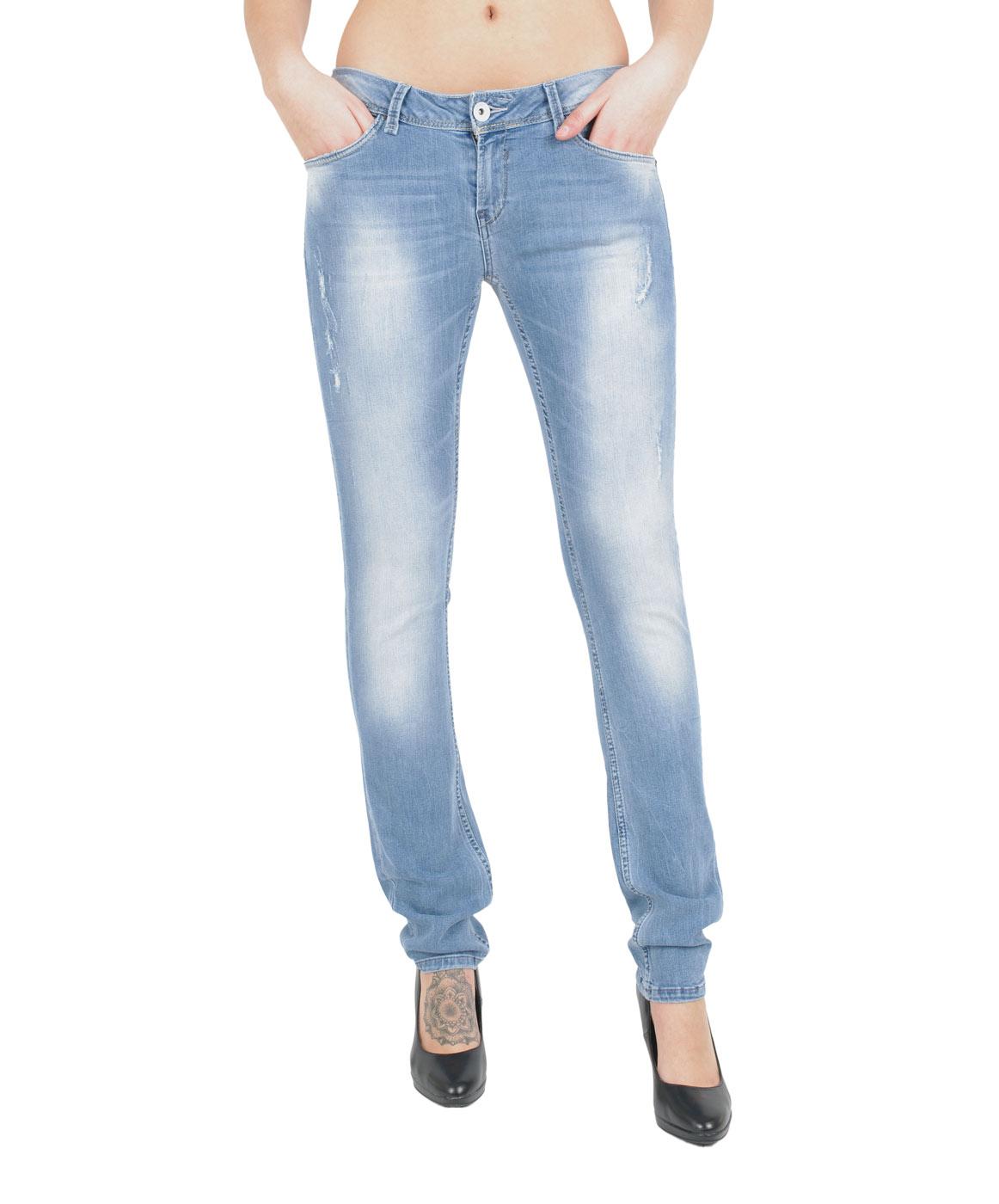 Hosen - Garcia Slim Fit Jeans Riva in Light Blue Vintage  - Onlineshop Jeans Meile