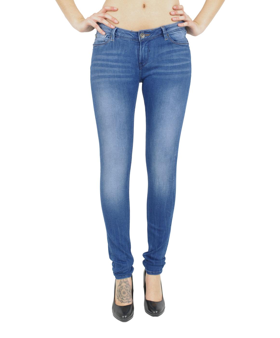 Hosen - Garcia Slim Fit Jeans Riva in Royal Blue Used  - Onlineshop Jeans Meile