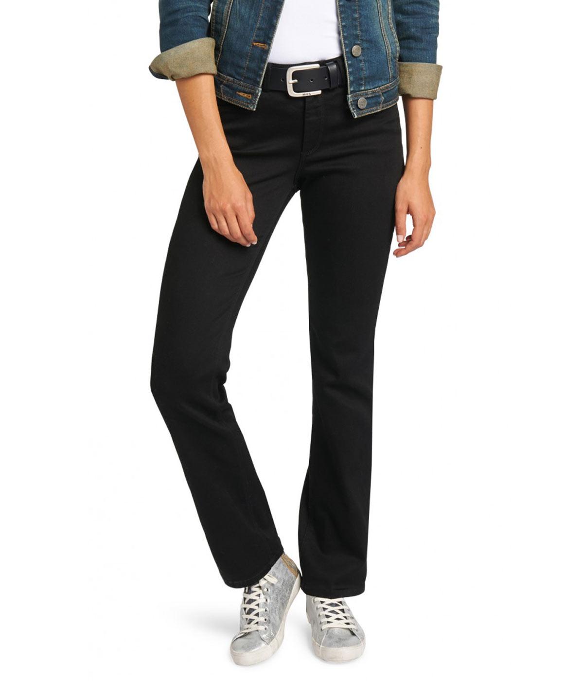 Hosen für Frauen - HIS COLETTA Jeans Comfort Fit Deep Black  - Onlineshop Jeans Meile