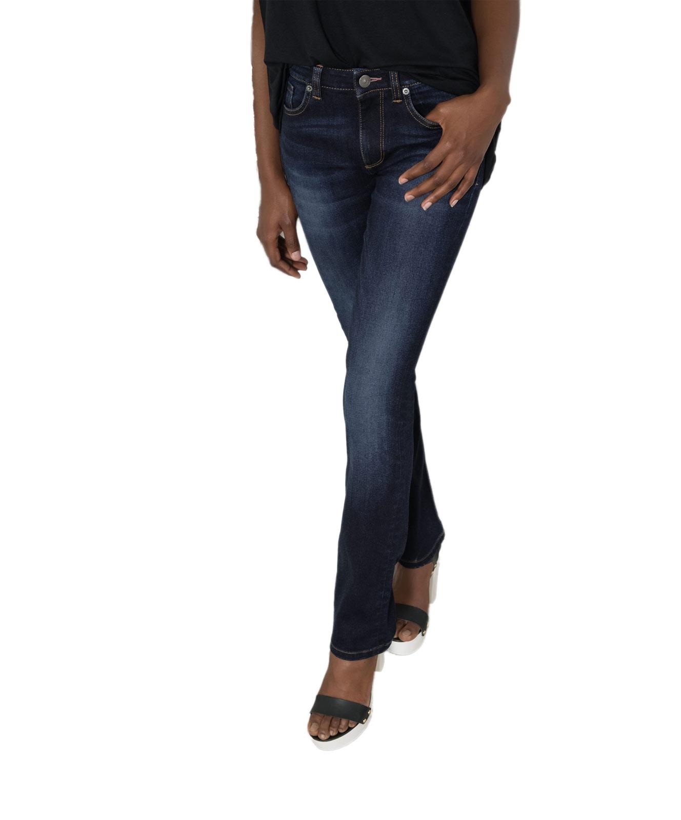 Hosen für Frauen - HIS COLETTA Jeans Straight Fit Advanced Dark Blue  - Onlineshop Jeans Meile