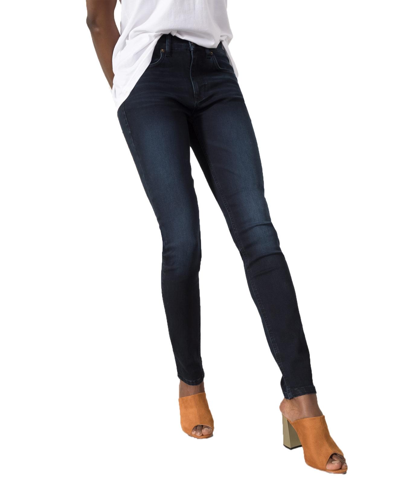 Hosen für Frauen - HIS LORRAINE Super Skinny Jeans Blue Black Wash  - Onlineshop Jeans Meile