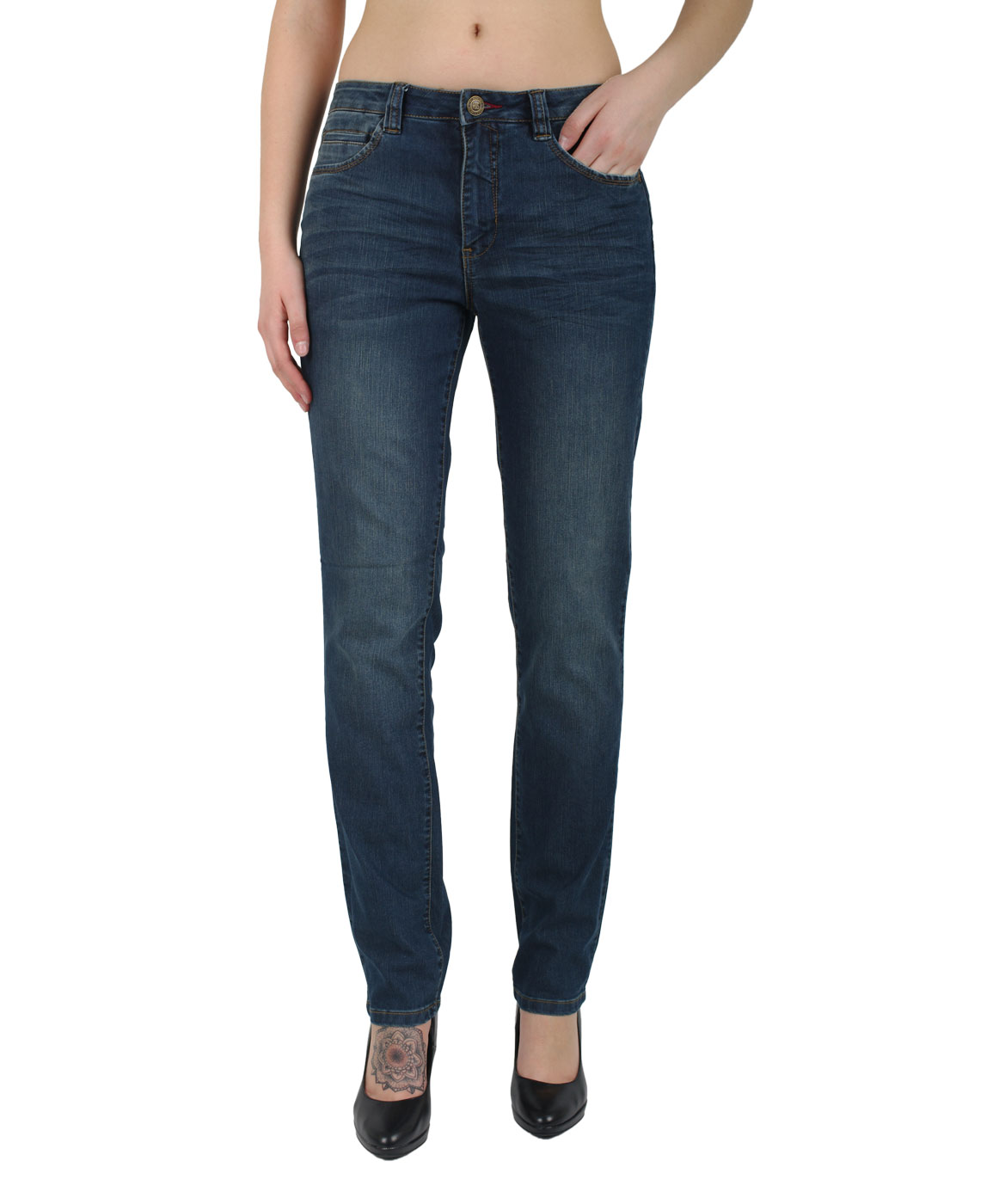Hosen für Frauen - HIS MARYLIN Jeans Comfort Fit Navy Blue  - Onlineshop Jeans Meile